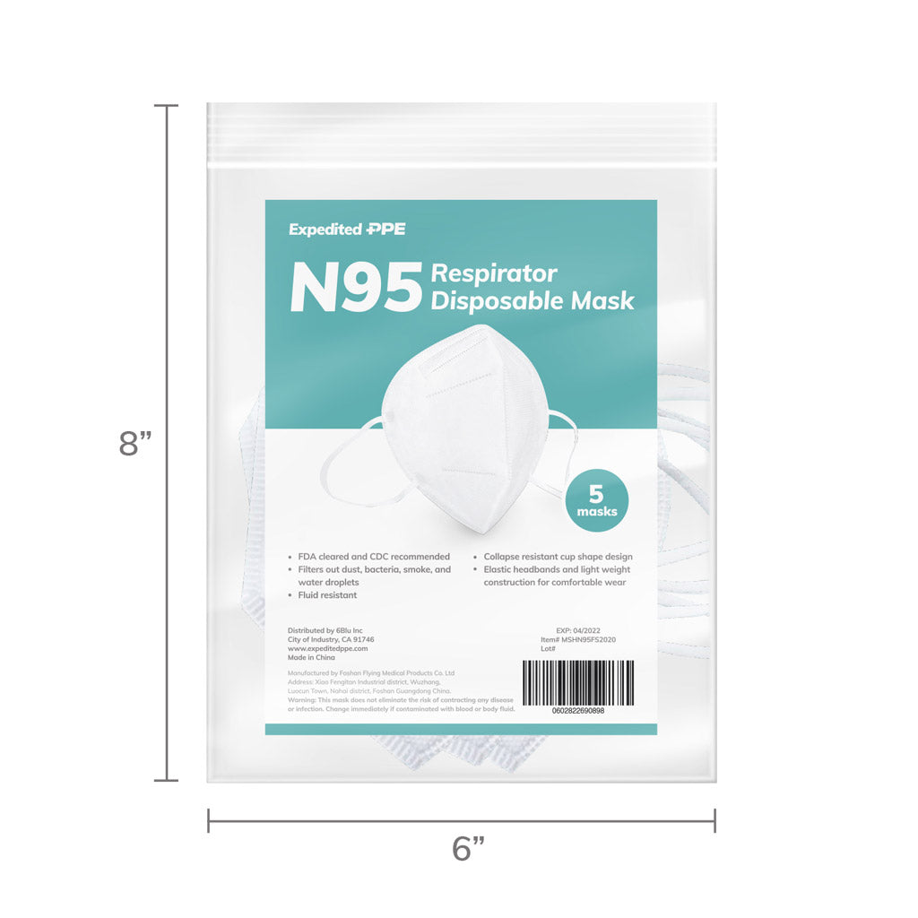 5 pack of N95 medical masks
