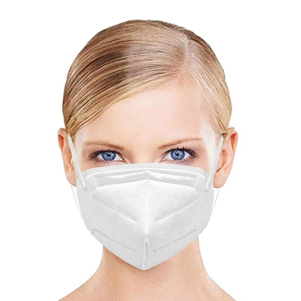 Woman wearing N95 medical mask