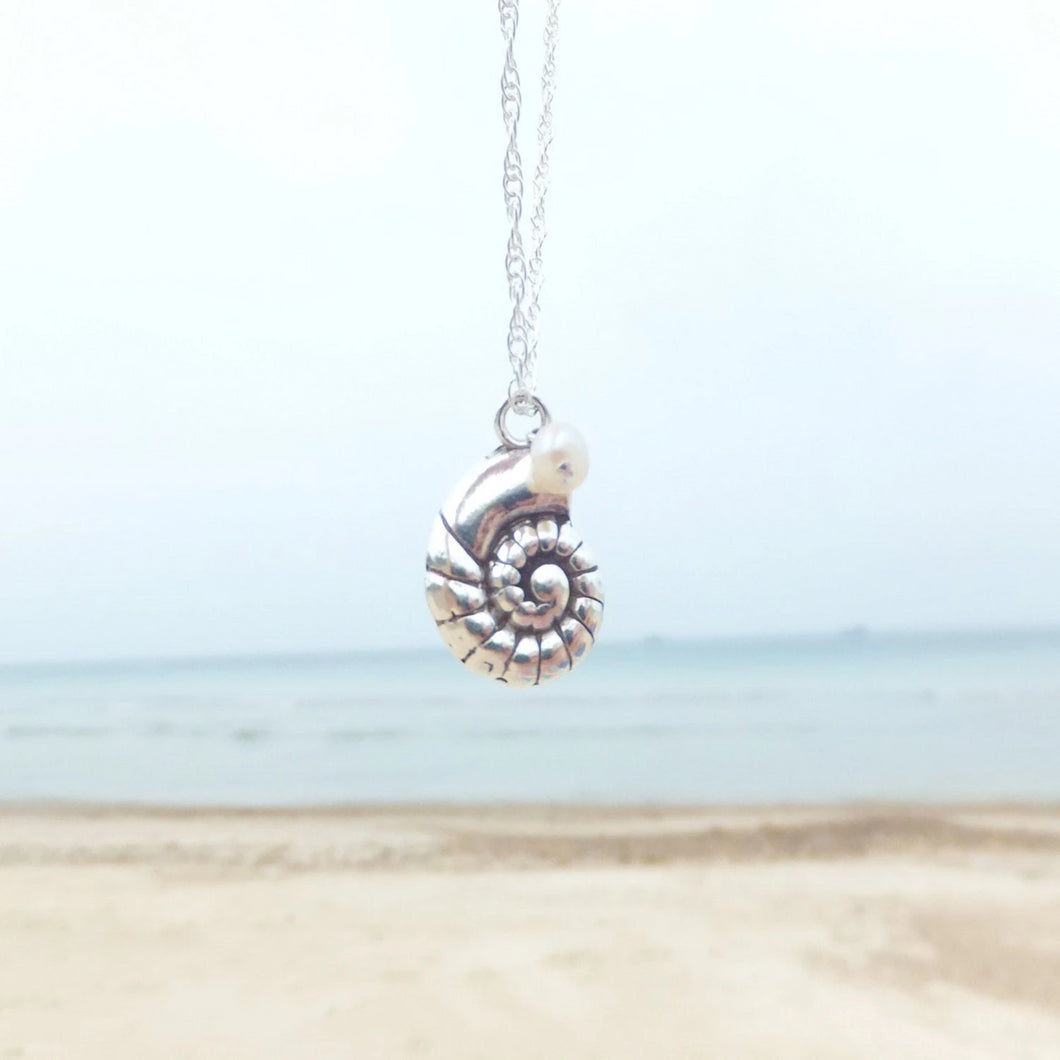 Ammonite Shell Pendant