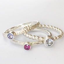 Load image into Gallery viewer, Birthstone stacking rings