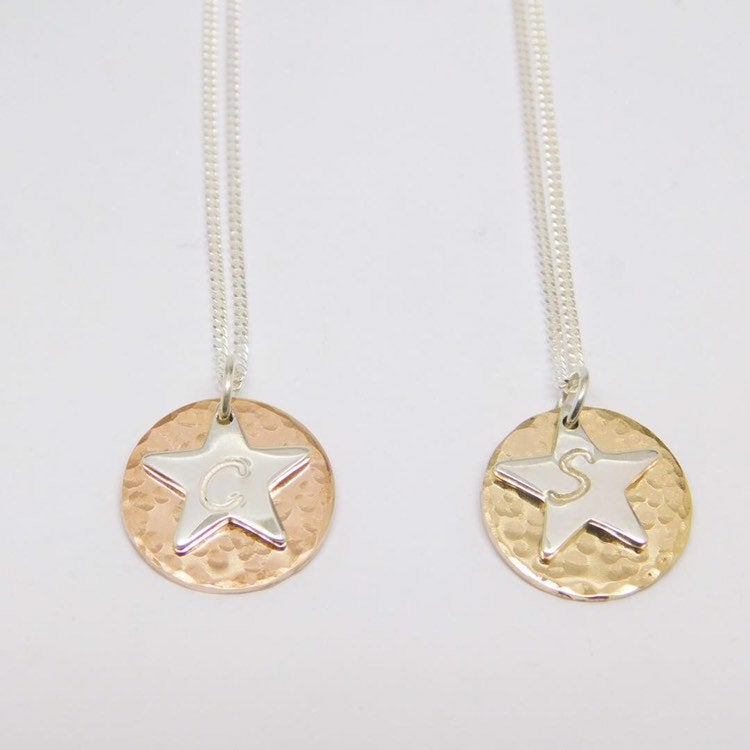 Star & Moon Initial Necklace