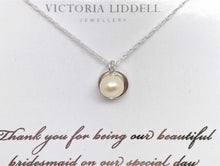 Load image into Gallery viewer, Bridesmaid necklace