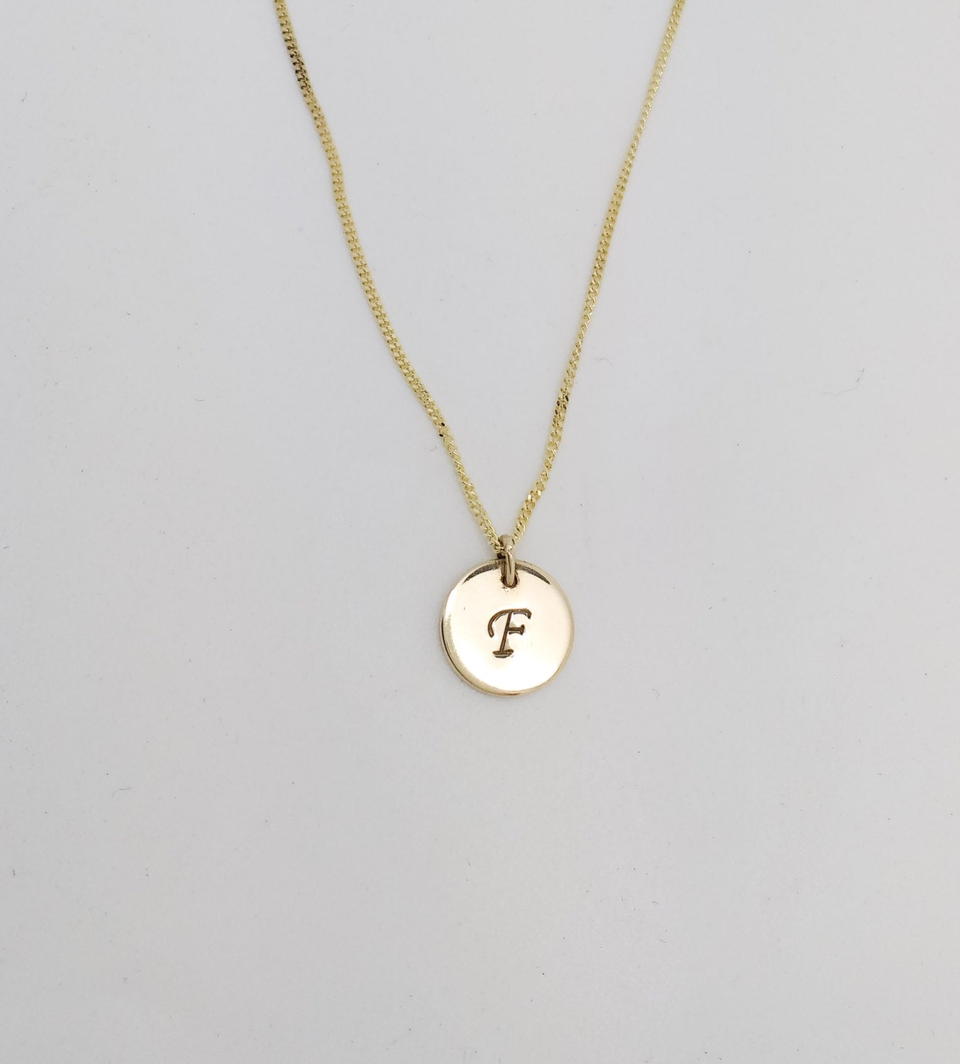 9ct Gold Initial Necklace