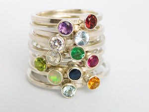 Simple Birthstone Ring