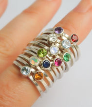 Load image into Gallery viewer, Birthstone stacking ring