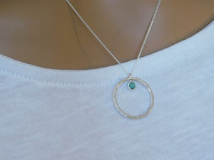 Birthstone Circle Necklace