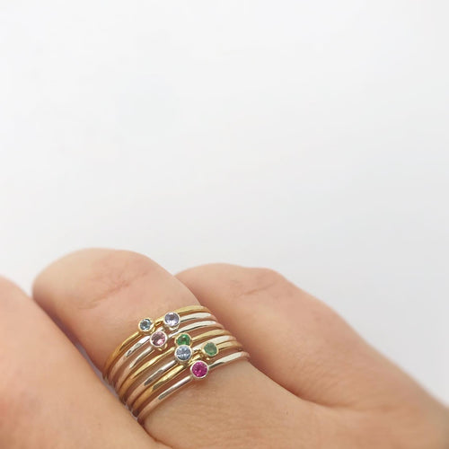 Dainty Birthstone Ring