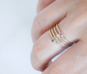 9ct Gold Dainty Birthstone Ring