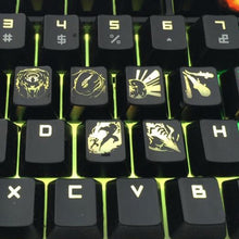 Load image into Gallery viewer, League of Legends Black Summoner Backlit Keycaps