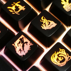 League of Legends Black Summoner Backlit Keycaps