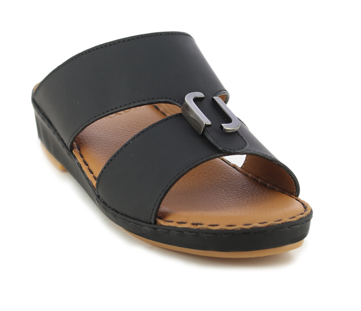 Black Matt Kids Arabic Sandals (106-15)