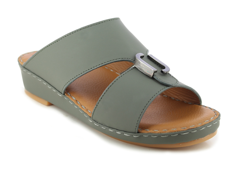 Grey Matt Kids Arabic Sandals (106-15)