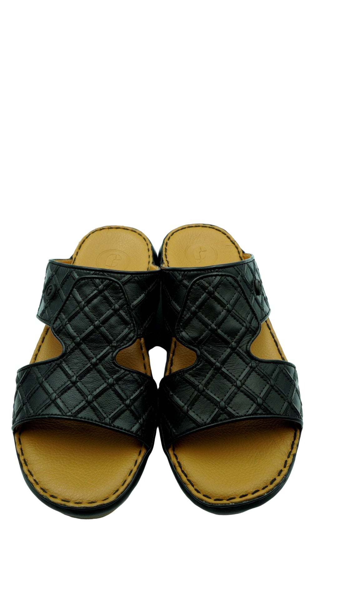 Black Crown Square-Patch (121-15) Arabic Sandal