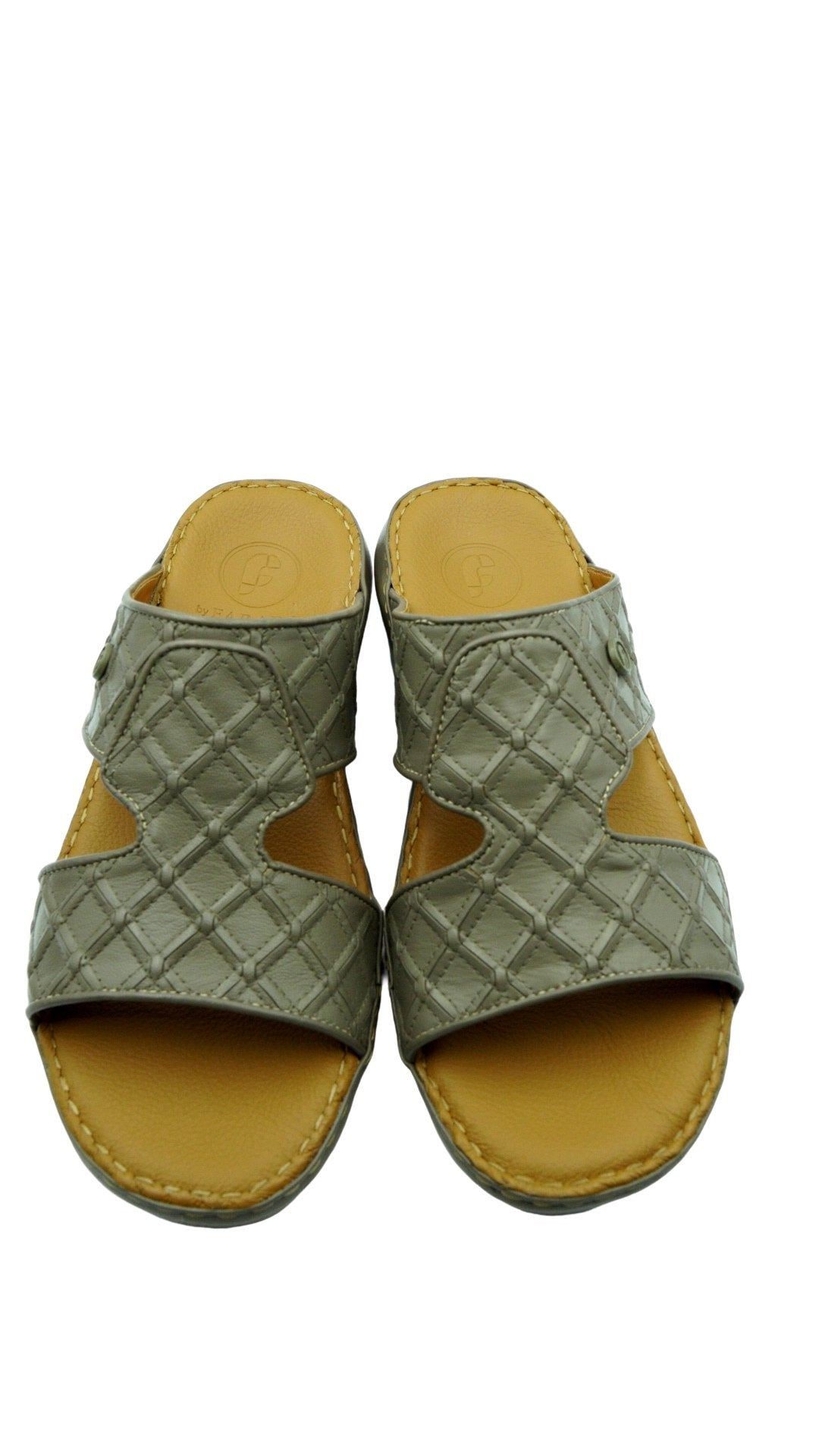Taupe Crown Square-Patch (121-15) Arabic Sandal