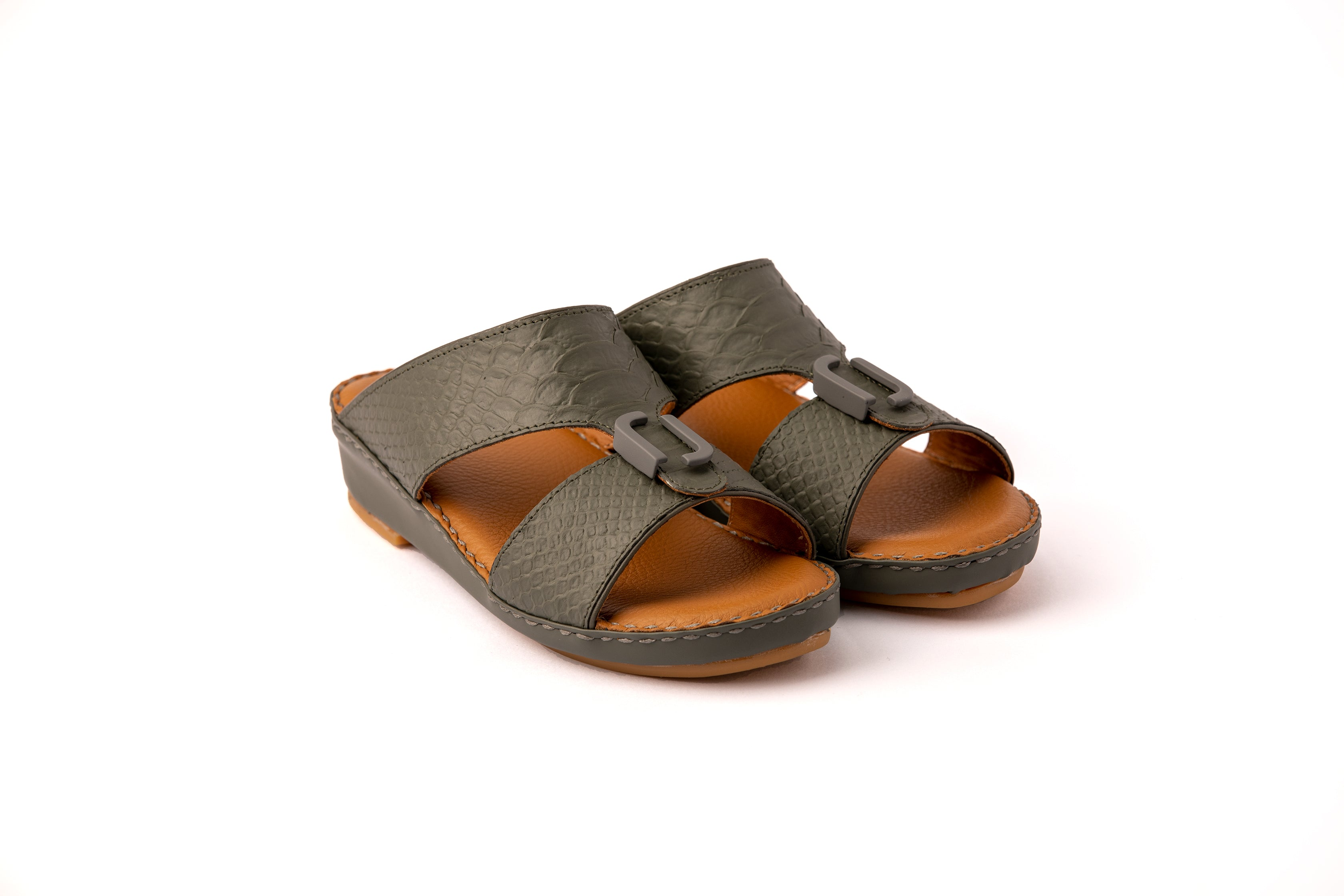Dark Grey F Pitone Boys Arabic Sandals (317-41)