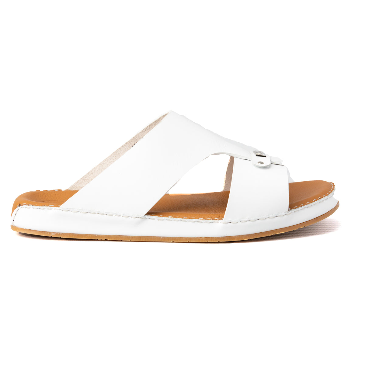 NOVO CALF WHITE FLAT SOLE ARABIC SANDAL (9405-11)