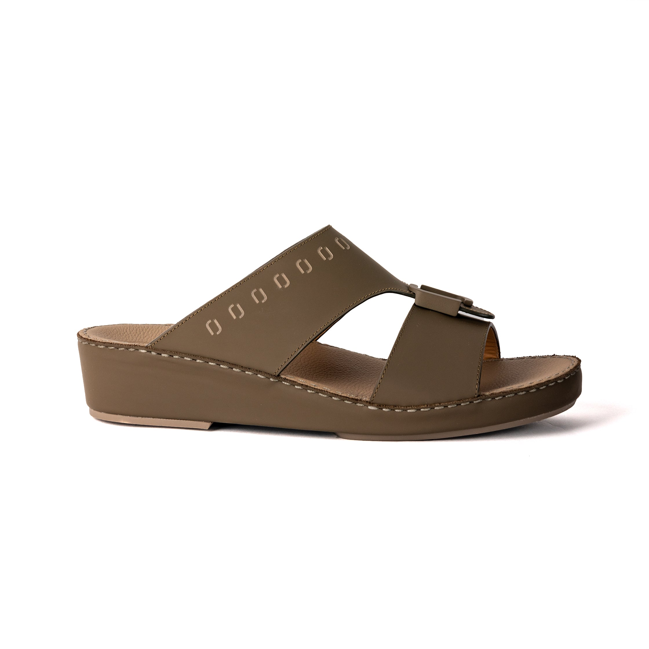 Brown Napa F Buckle Arabic Sandal (317-89)