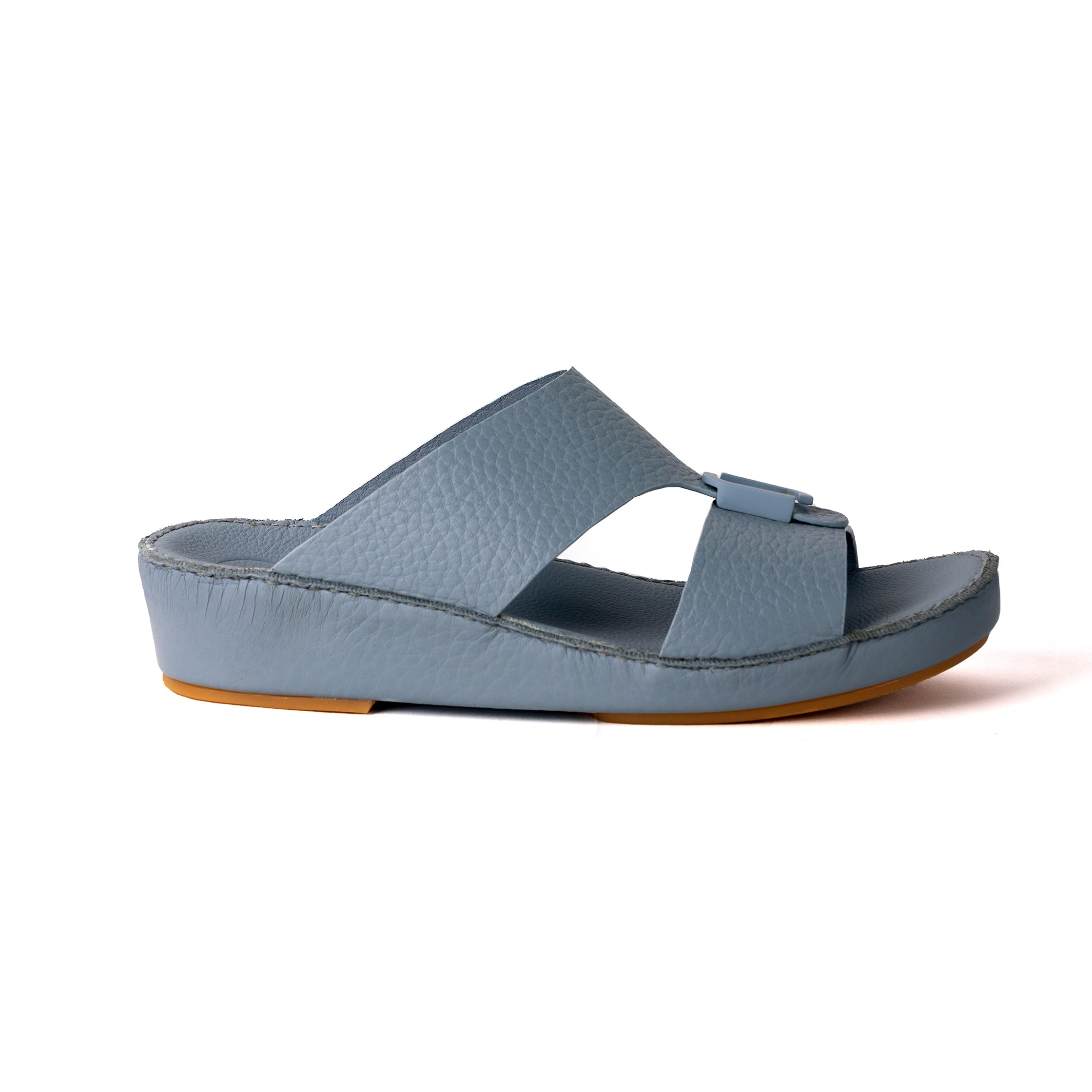 Sky Blue Unlined Hammered Milled (317-85) Arabic Sandal