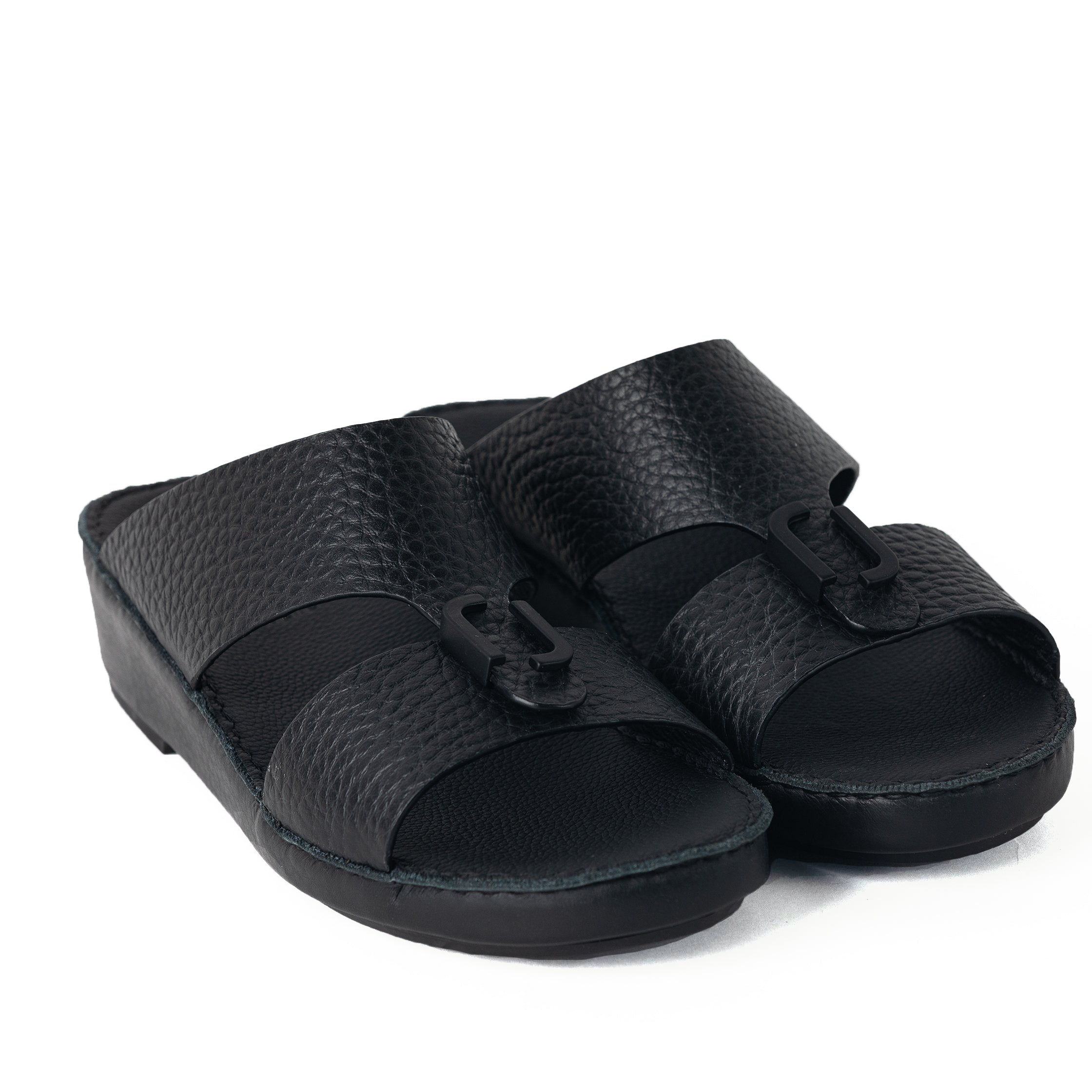 Black Unlined Hammered Milled (317-85) Arabic Sandal