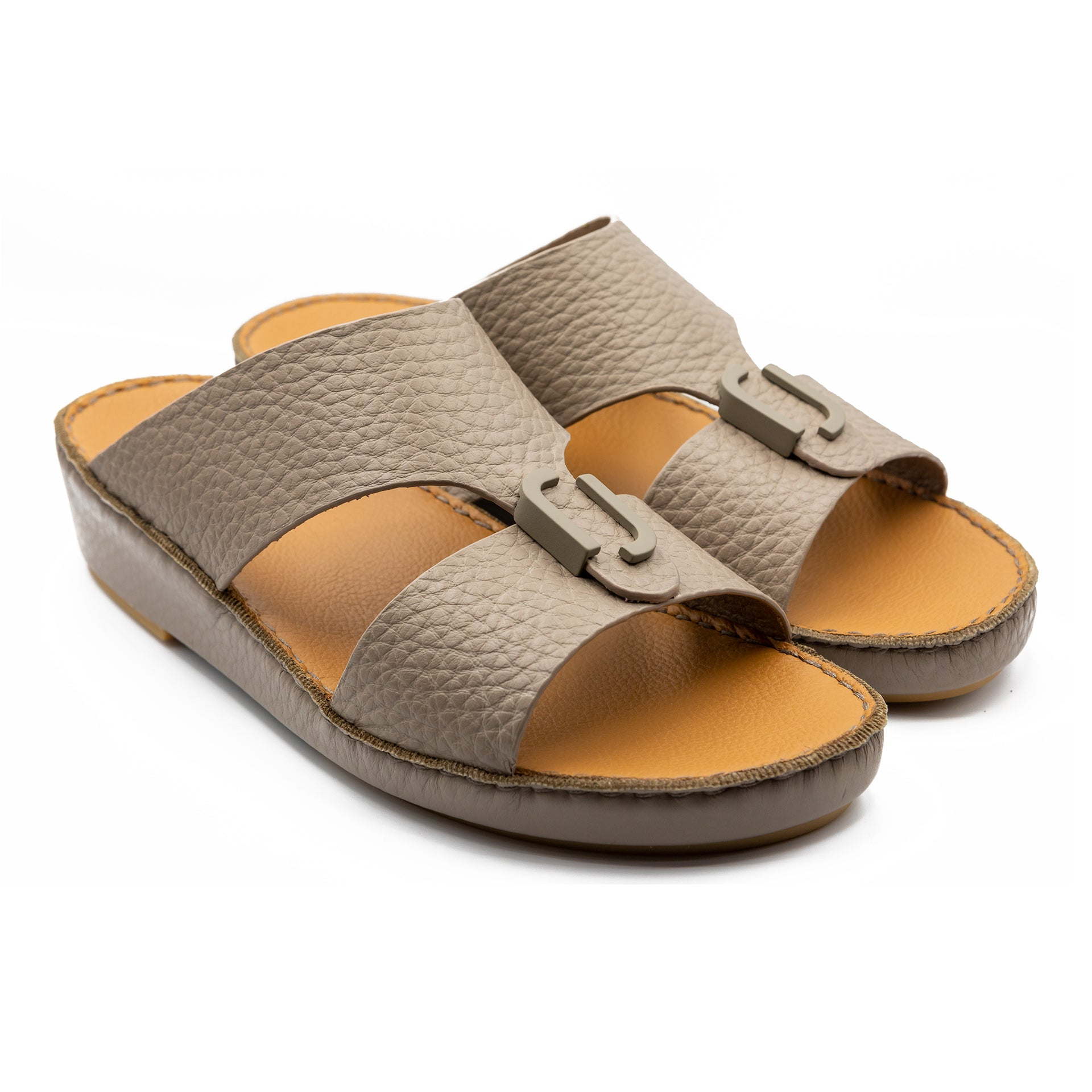 Stone Unlined Hammered Milled Arabic Sandal(317-80)