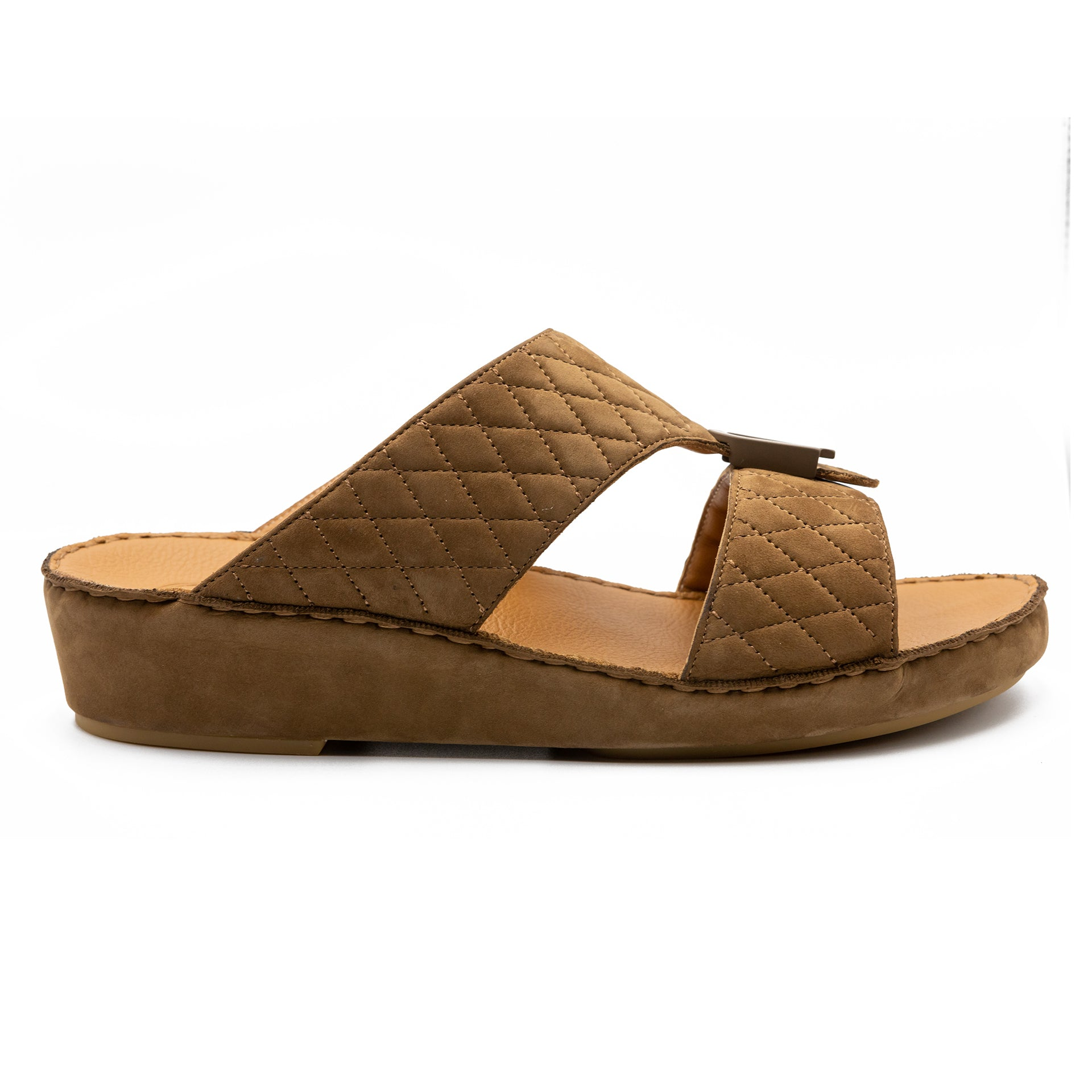 Cafe Suede Diamond Stitched Arabic Sandal (317-97)