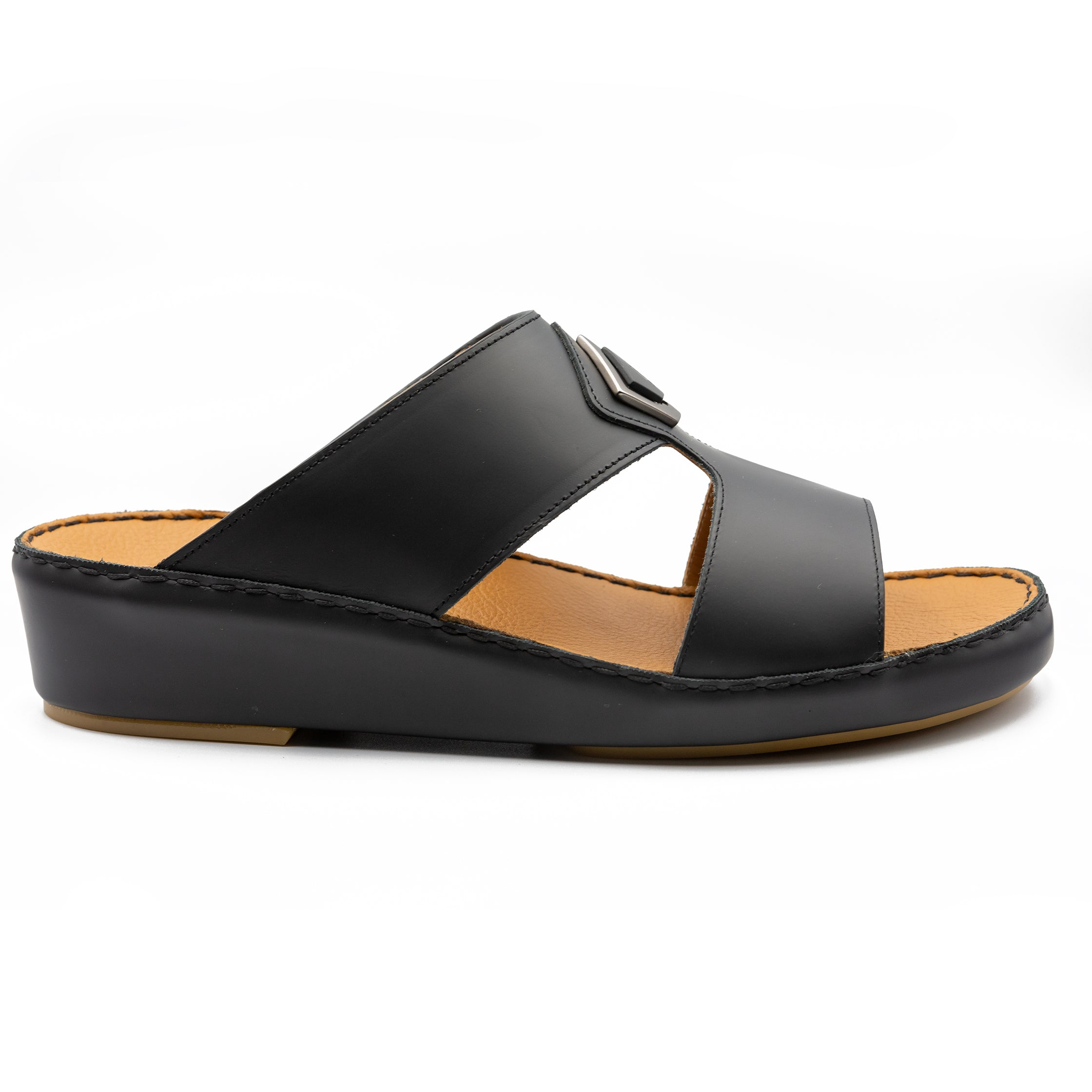 Black Oxford Soft Matte (317-84) Arabic Sandal