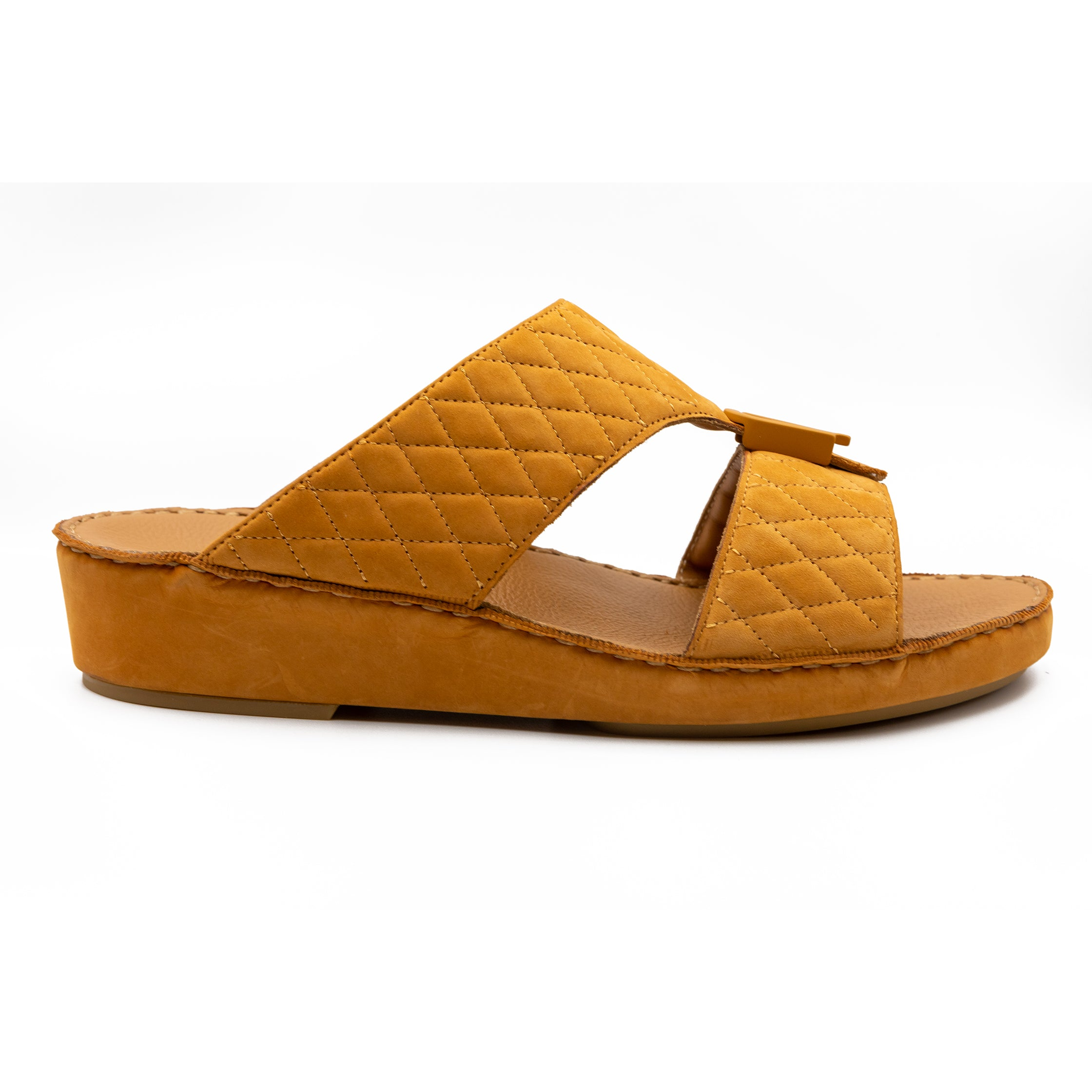 Saddle Suede Diamond Stitched (317-97)- Arabic Sandal - FbyFarada