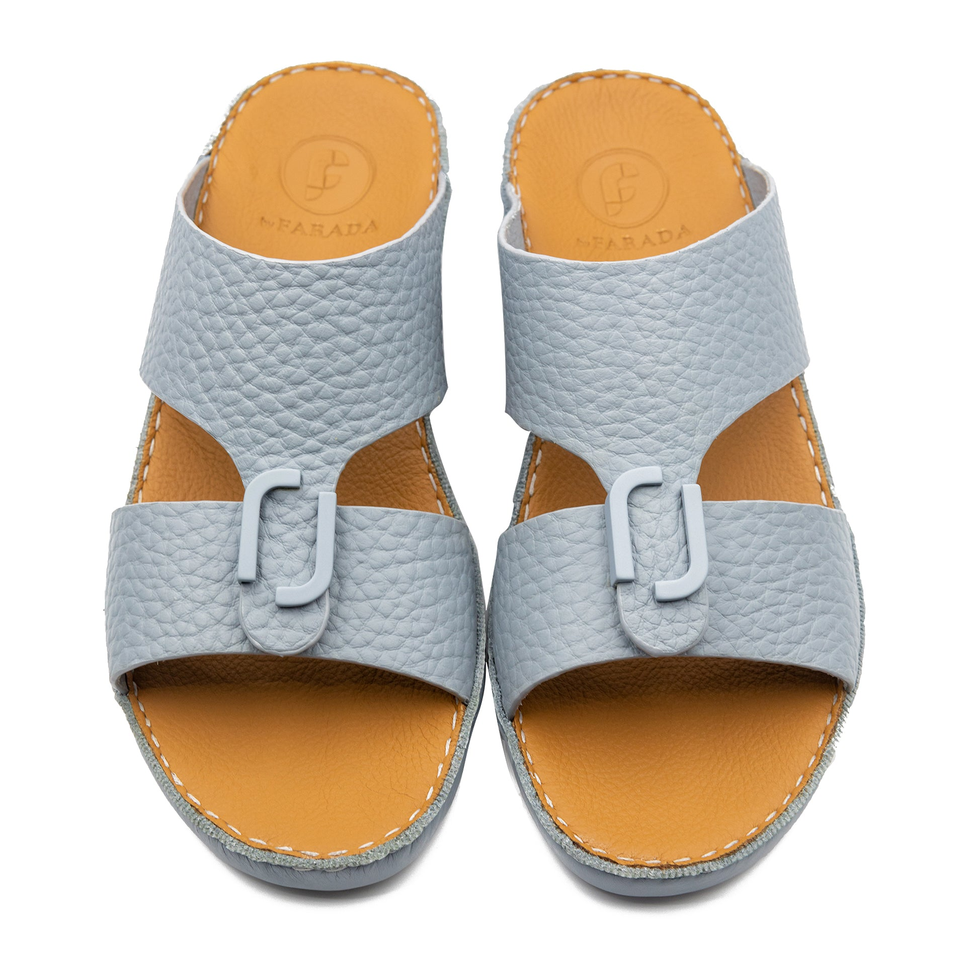 Sky Blue Unlined Hammered Milled Arabic Sandal (317-80)