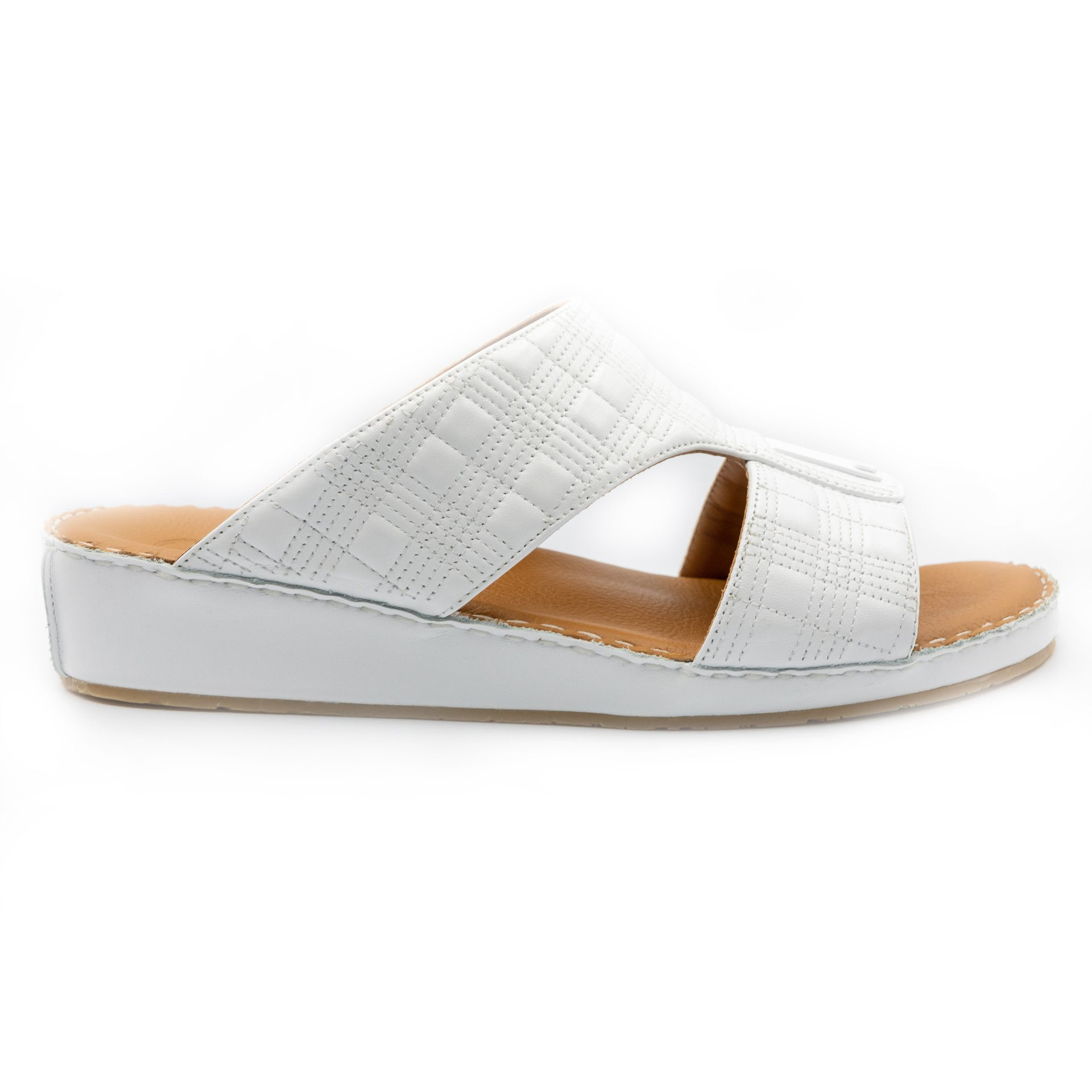 White, square, stiched, Sandals, Arabic, Sandal, Ramadan, Collection, Accessories
