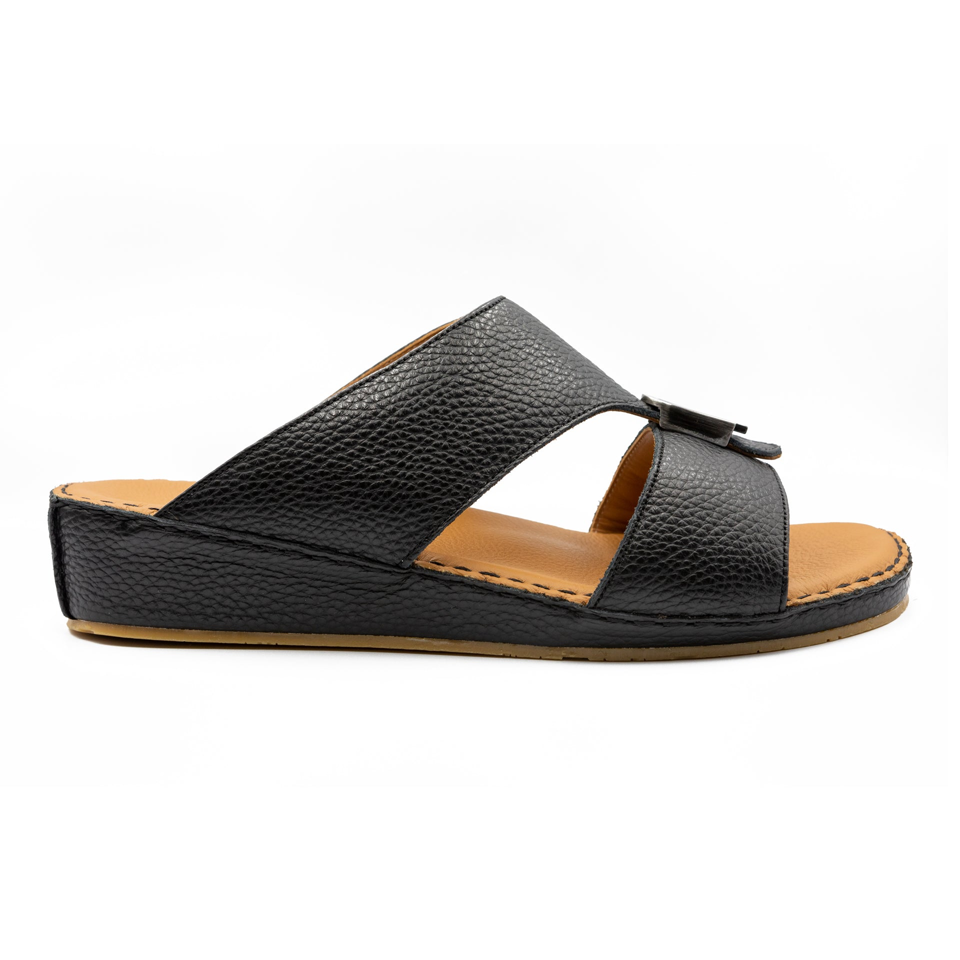 Black Cushioned Milled (103-37) Arabic Sandal