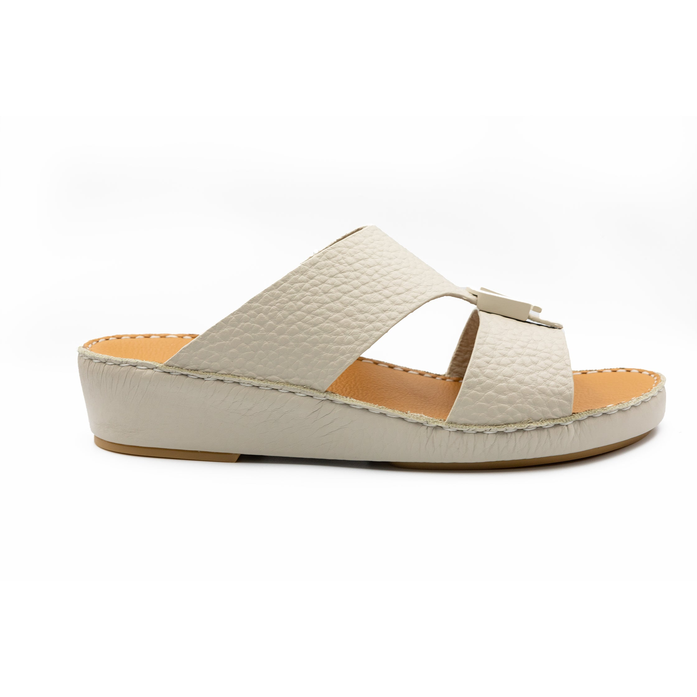 Light Beige Unlined Hammered Milled Arabic Sandal(317-80)