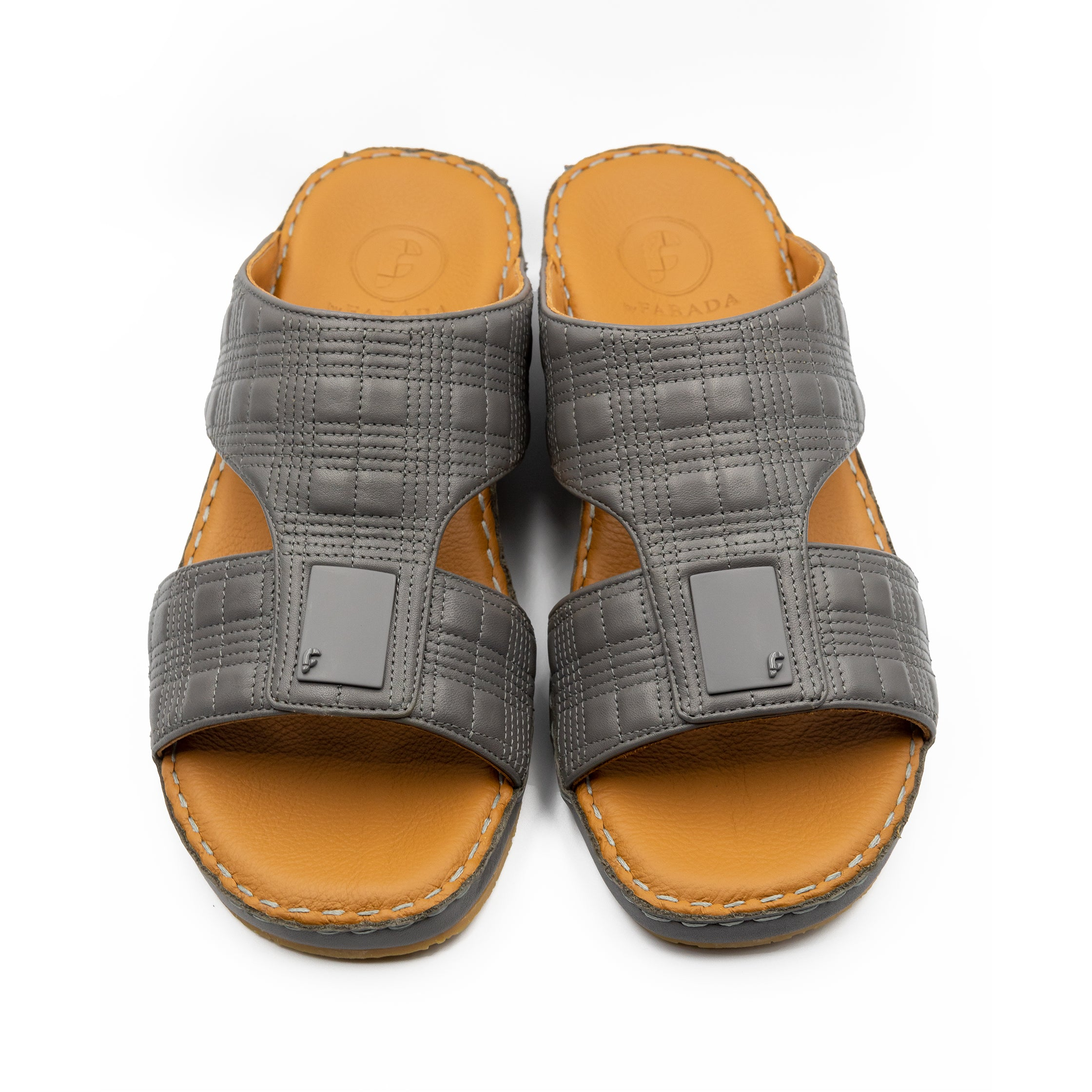 Grey Square Stitched Arabic Sandal(103-34)