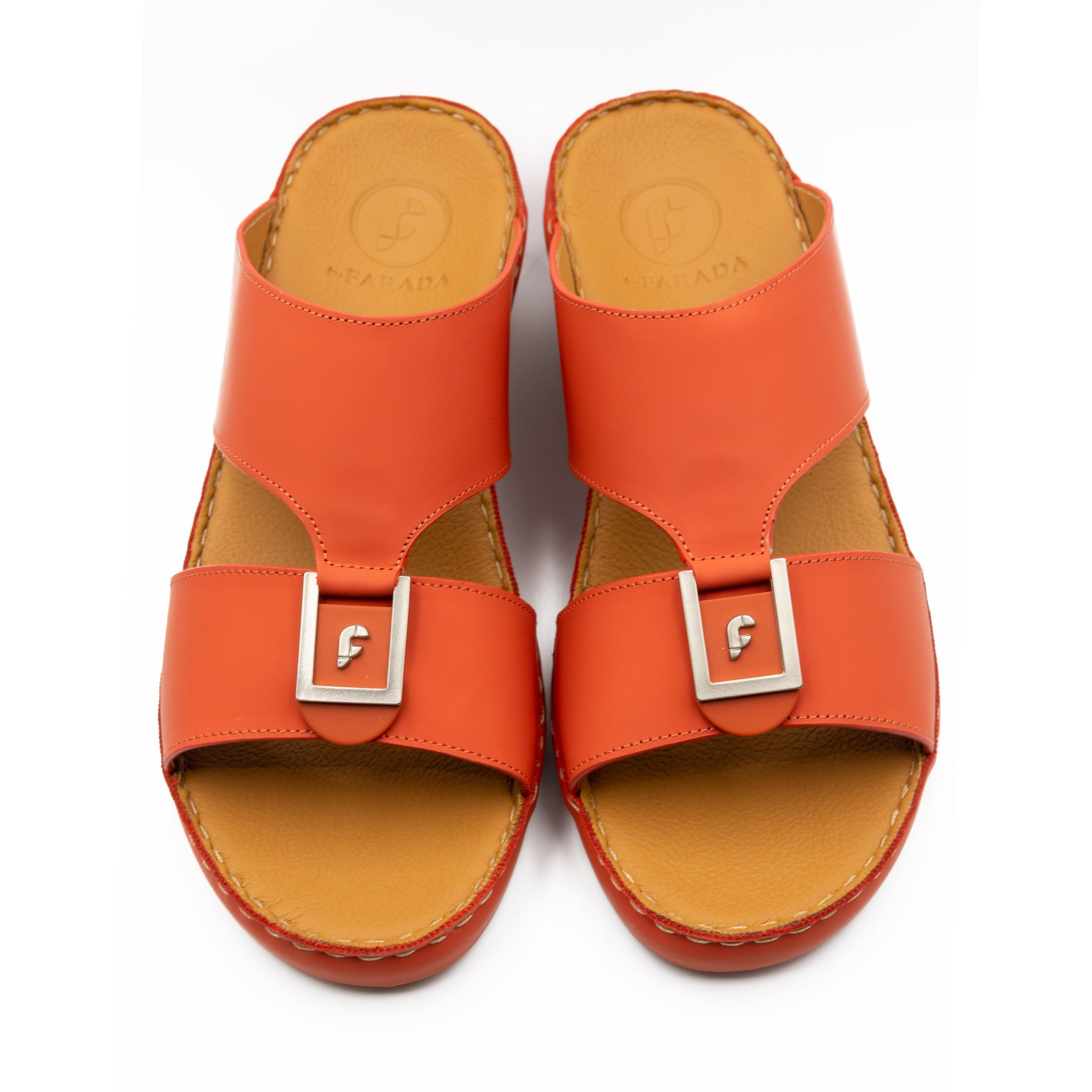 Burnt Orange Rubber Matte Arabic Sandal(317-81)