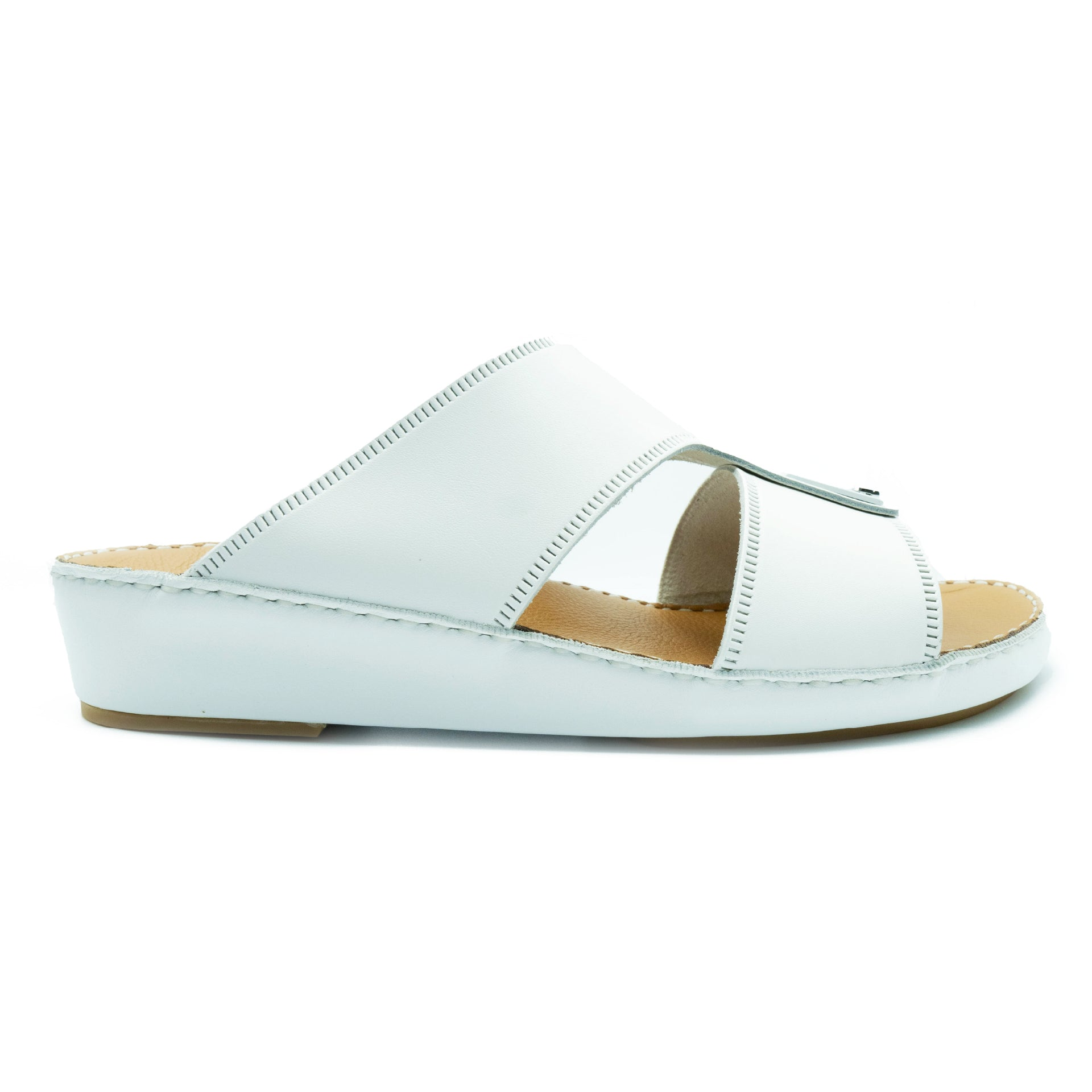 White Unlined Classic Flat Sandals  RamadAn Collection  Arabic Sandals  Accessories