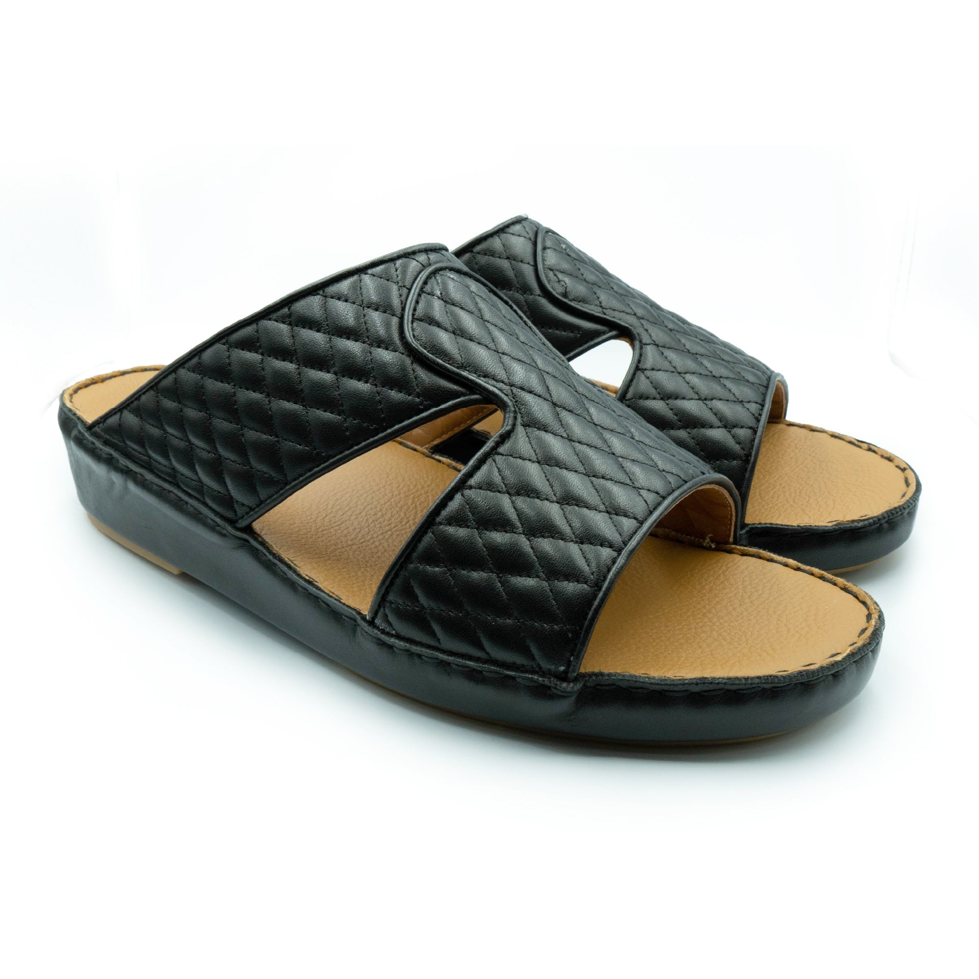 Black Diamond Stitched Crown (317-37) Arabic Sandals