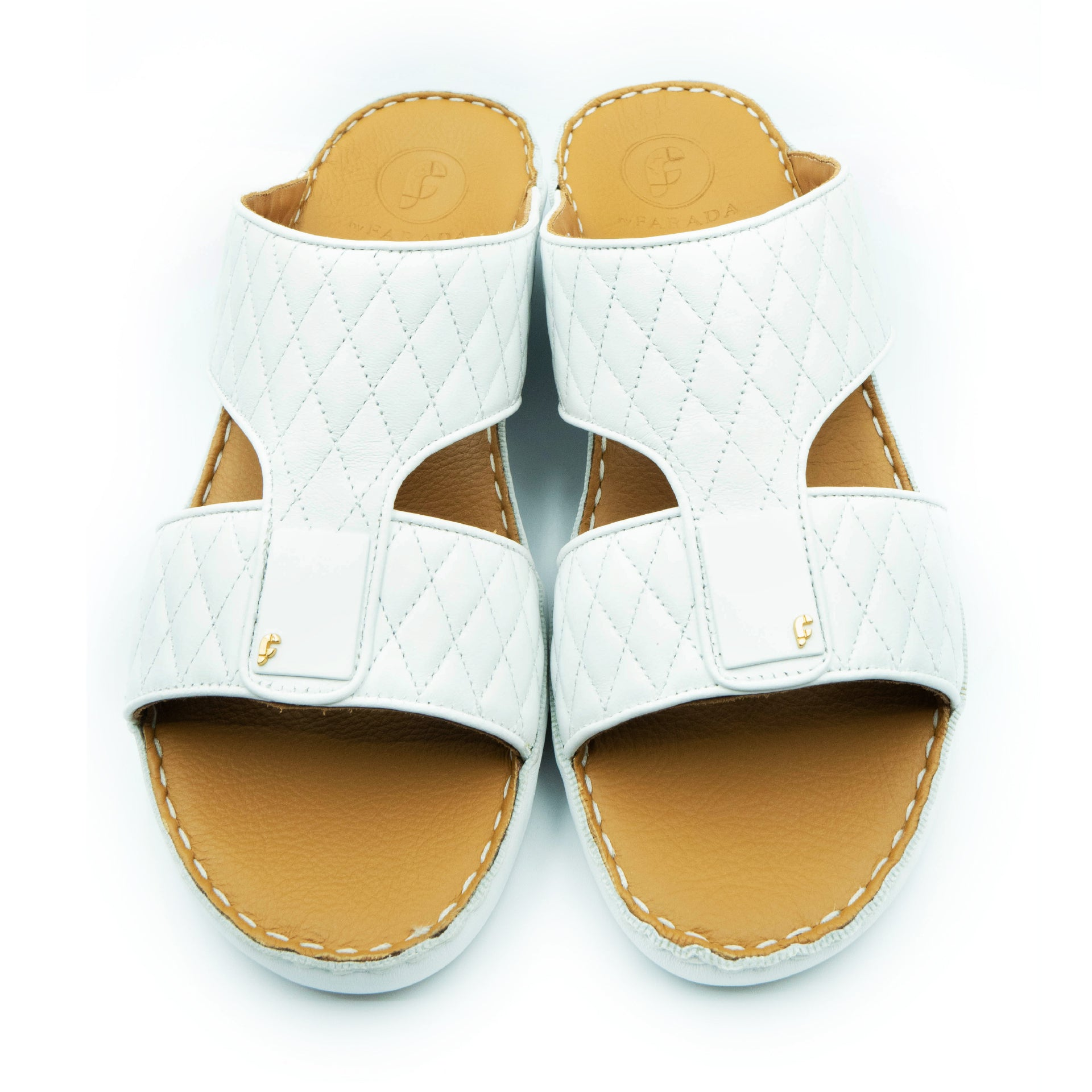 White Flat Diamond stiched Flat Sandals  RamadAn Collection  Arabic Sandals  Accessories