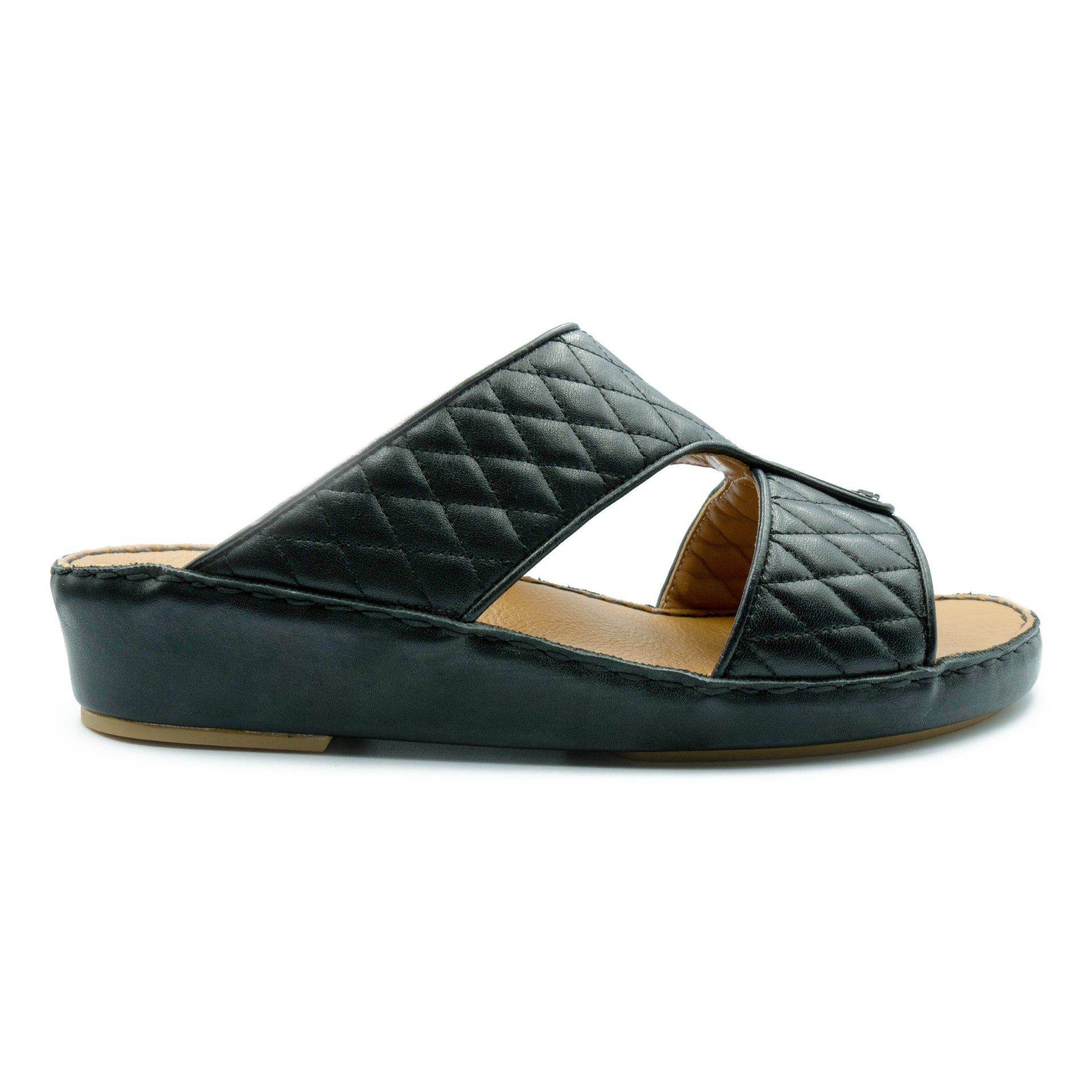Black Flat Diamond Stitched (317-72) Arabic Sandal