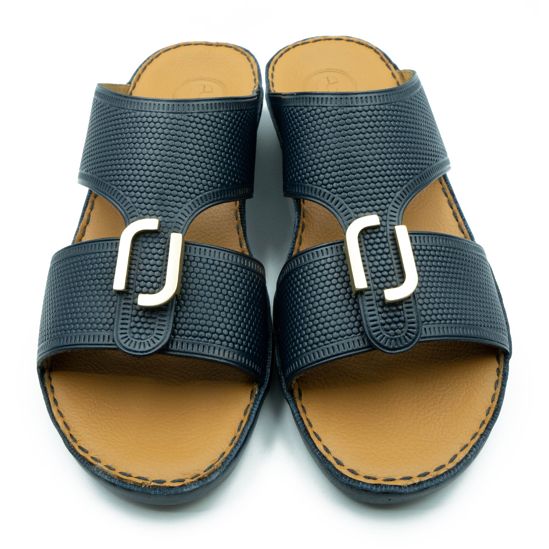 Navy, Embossed, Classic, Ramadan, Collection, Arabic, Sandals,  Accessories