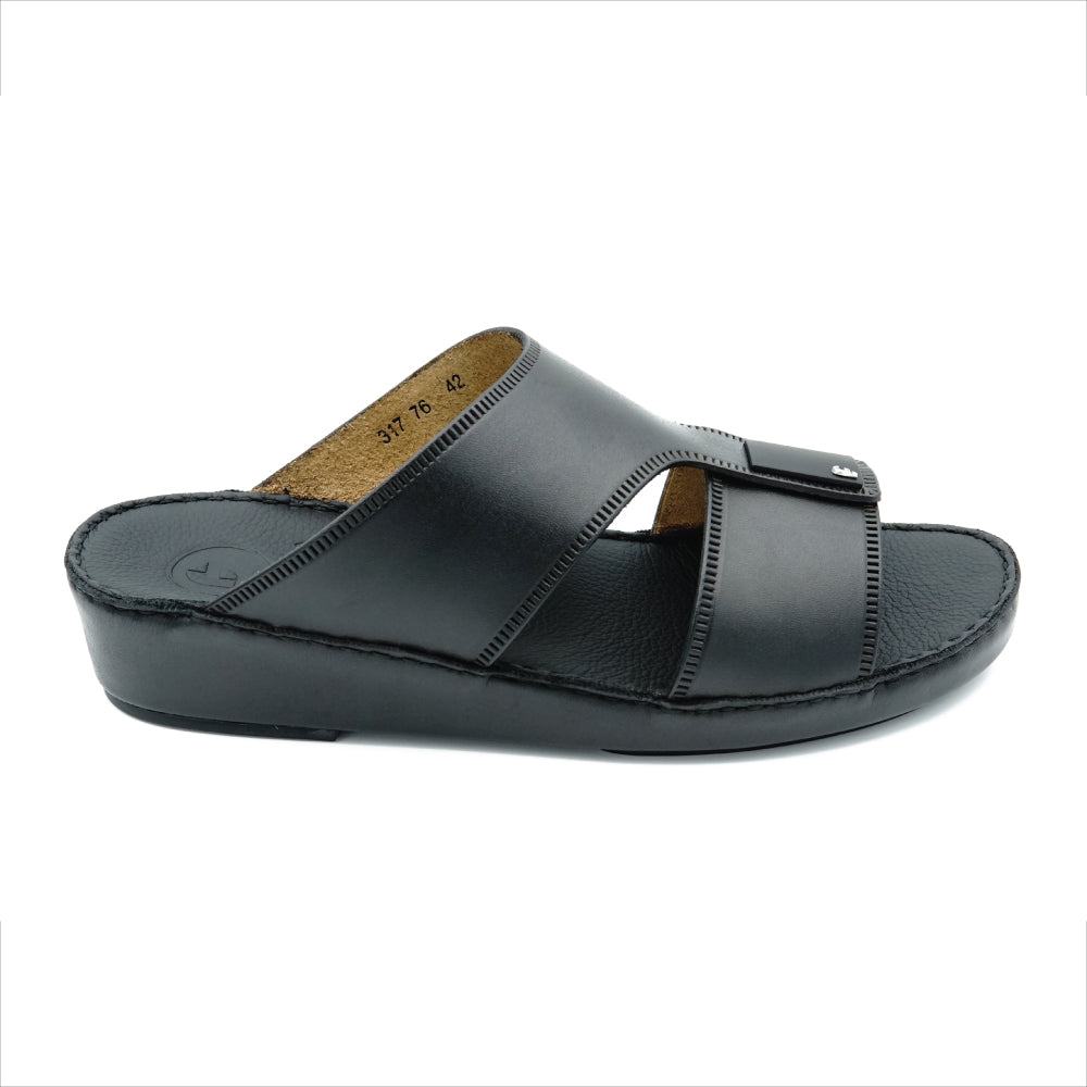UNLINED BLACK CLASSIC ARABIC SANDAL (317-76)