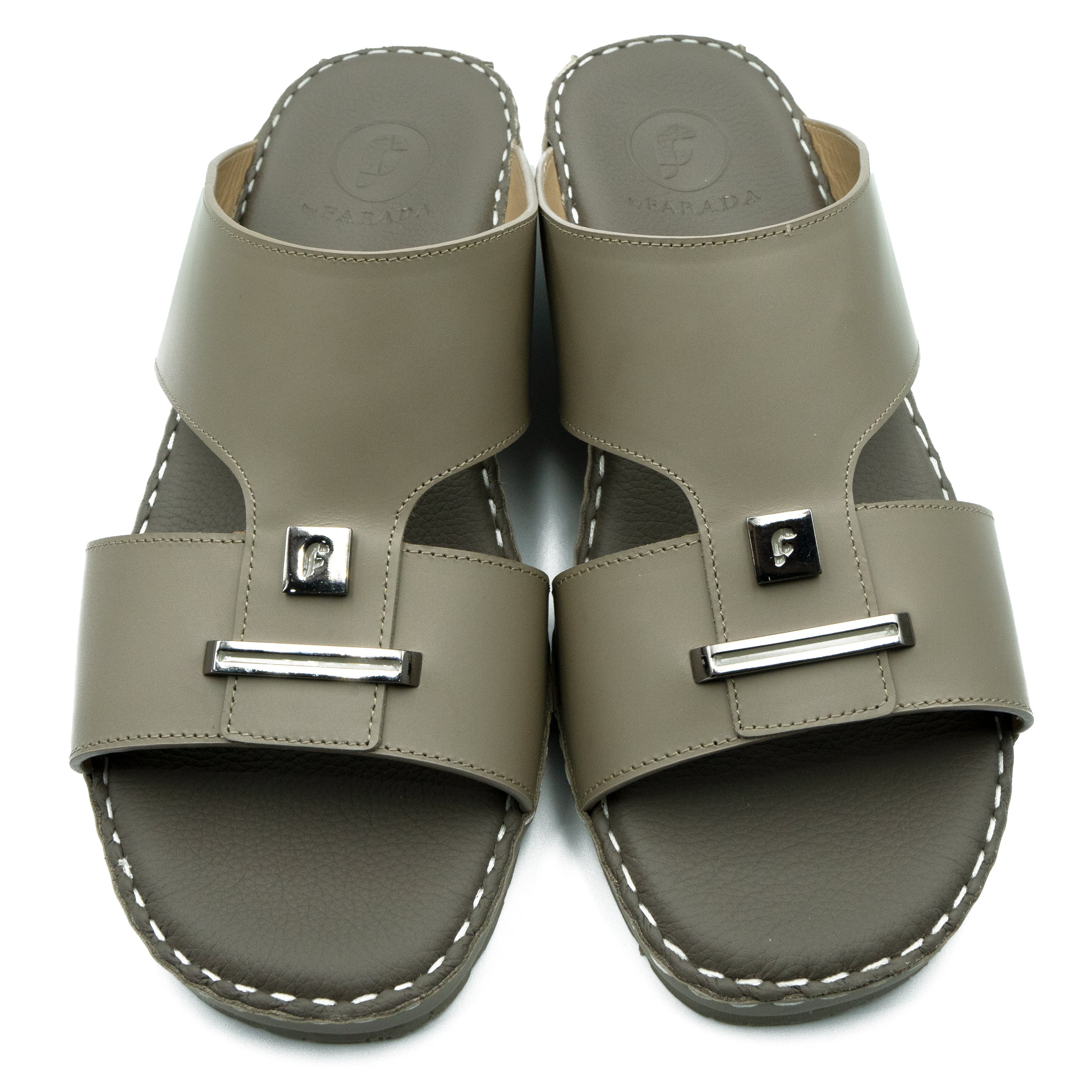 Earth 2-Plate Oxford Soft Matte Arabic Sandal (103-33)