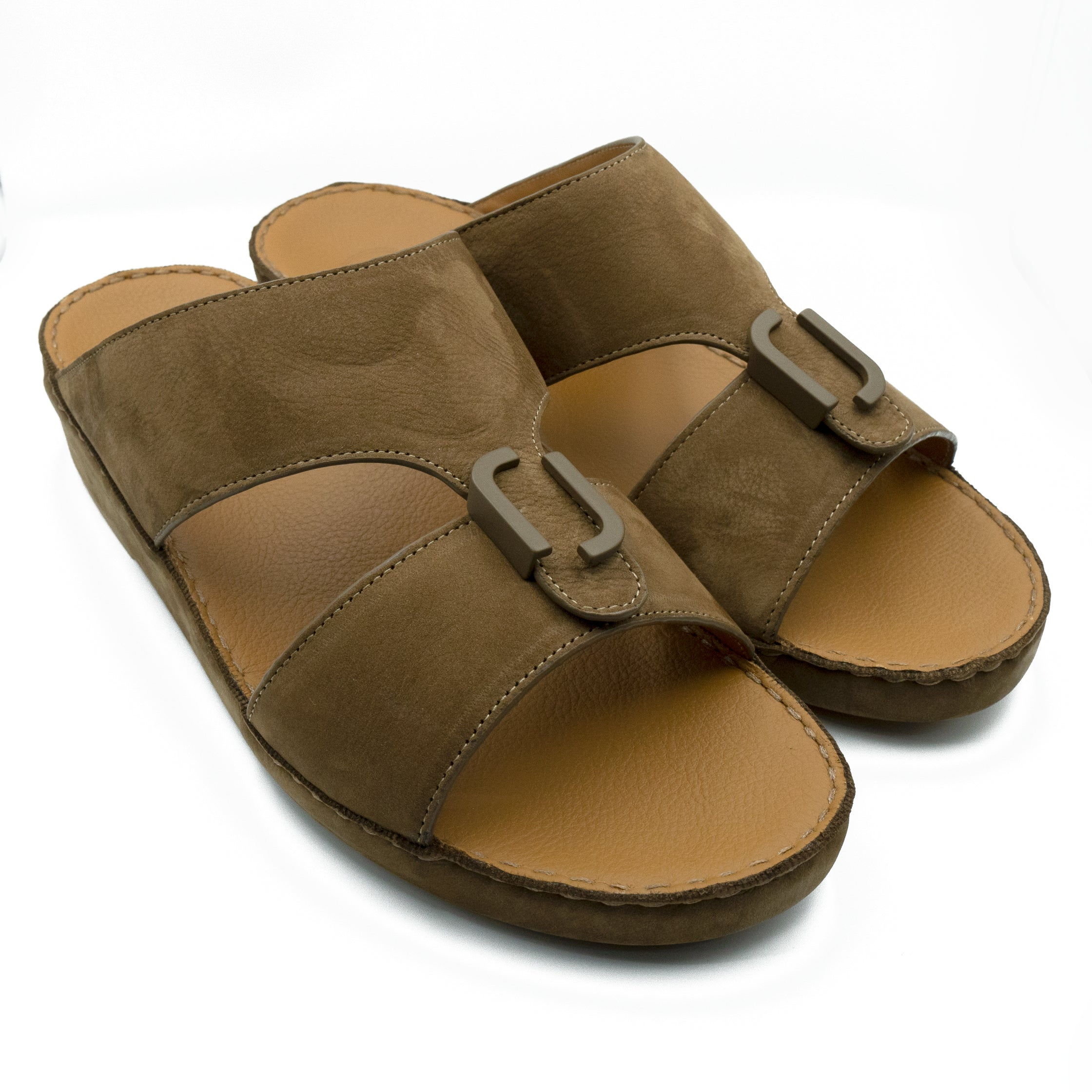 Café, Suede, Classic, Arabic, Flat, Sandals, Ramadan Collection, Arabic, Sandals, Accessories