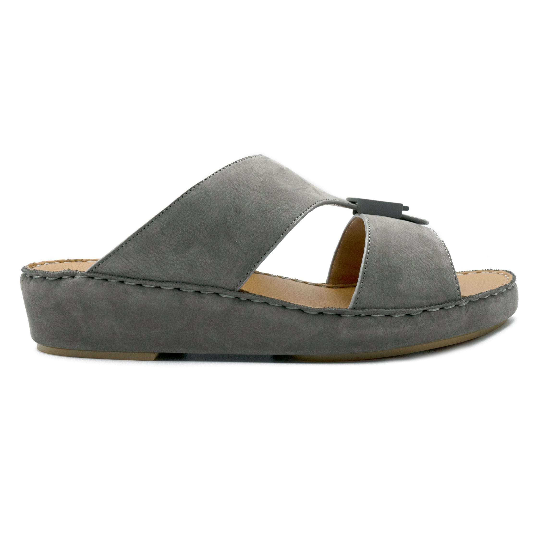 Grey, Suede, Classic,Arabic, Flat, Sandals, Ramadan Collection, Arabic, Sandals, Accessories