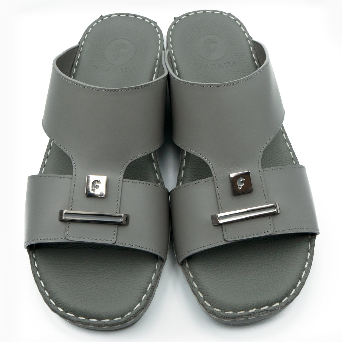 Dark, Grey, Oxford, Soft, Matte, Flat, Sandals, Ramadan Collection, Arabic, Sandals, Accessories
