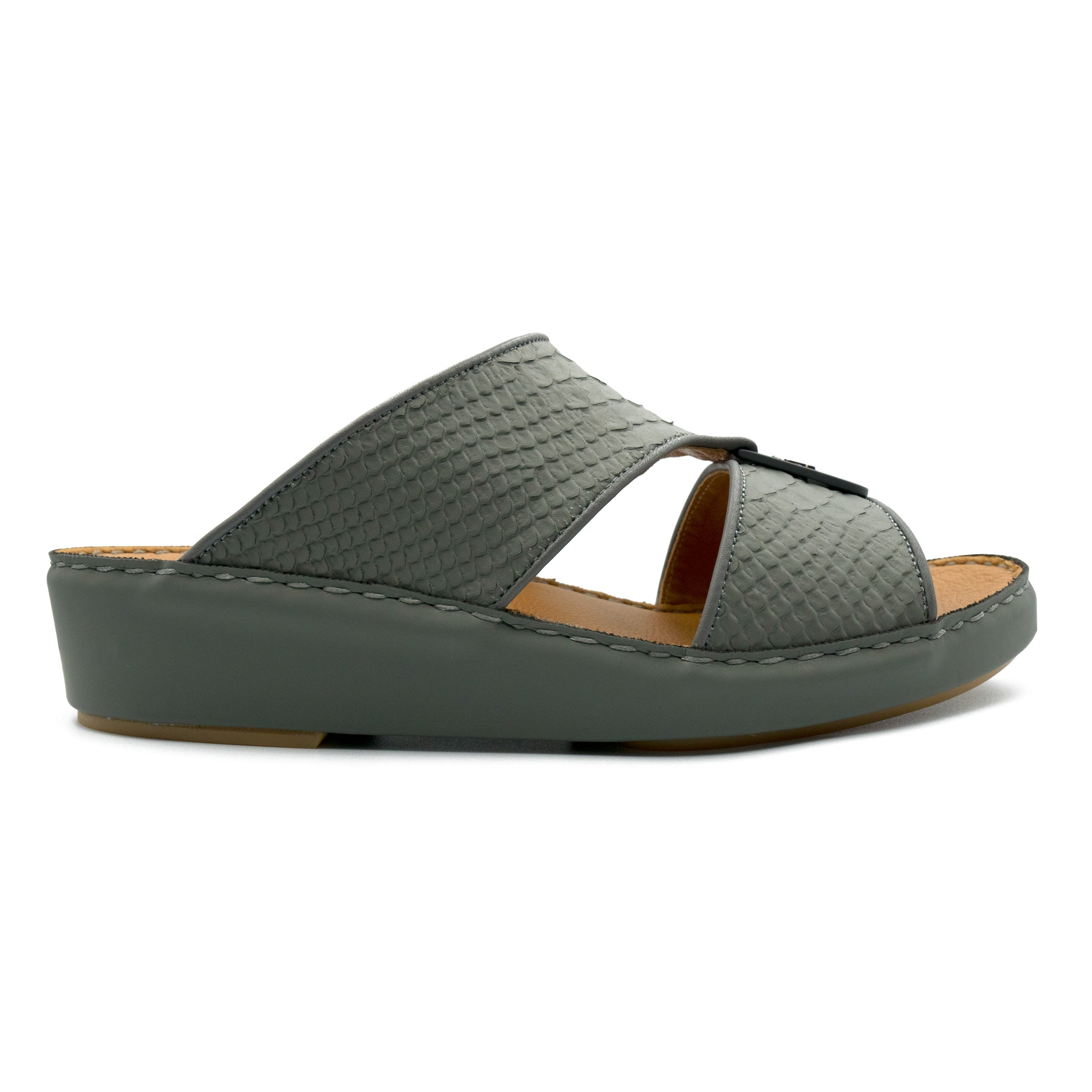 Dark Grey F Pitone (317-88) Arabic Sandals by F