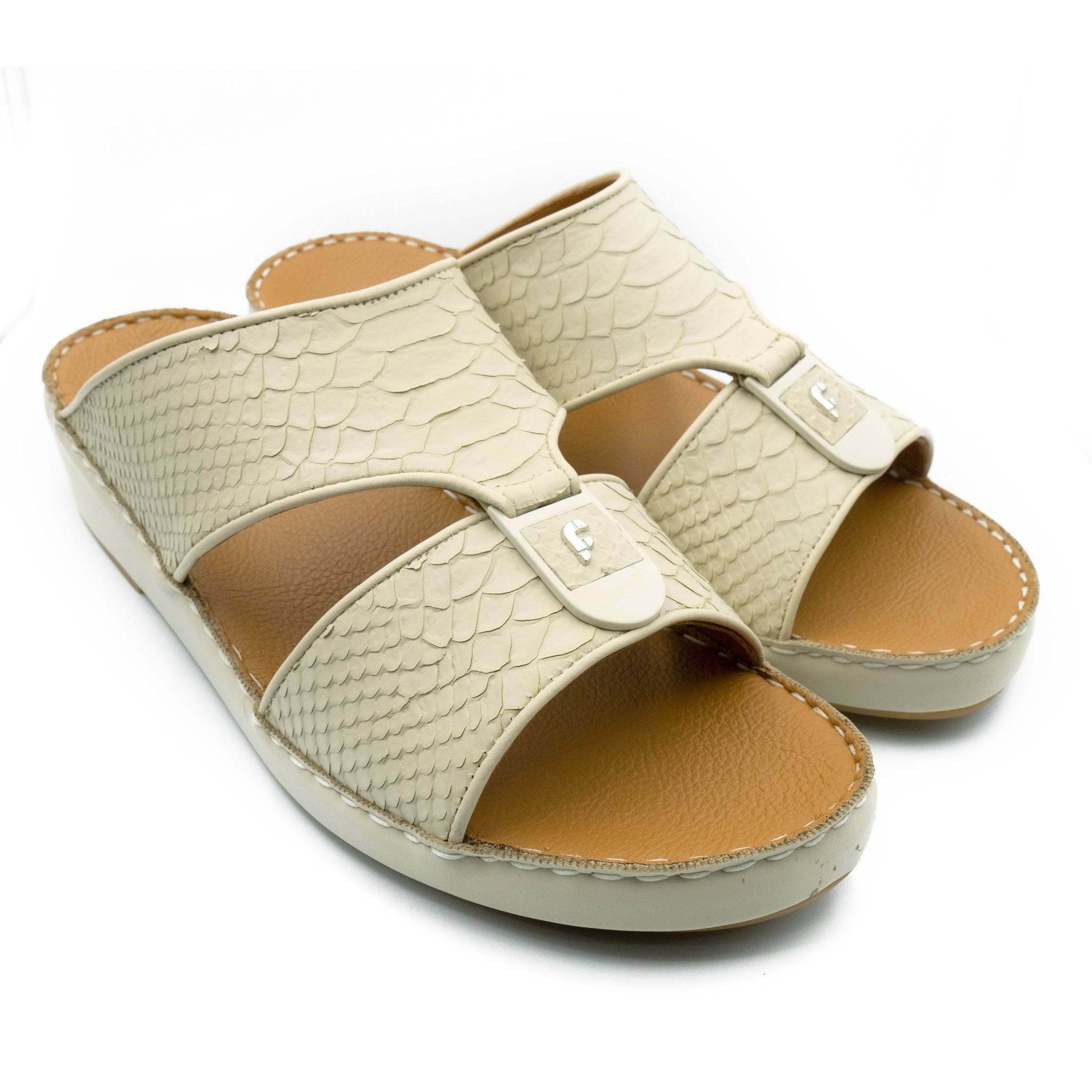 Beige F Pitone (317-88) Arabic Sandals by F