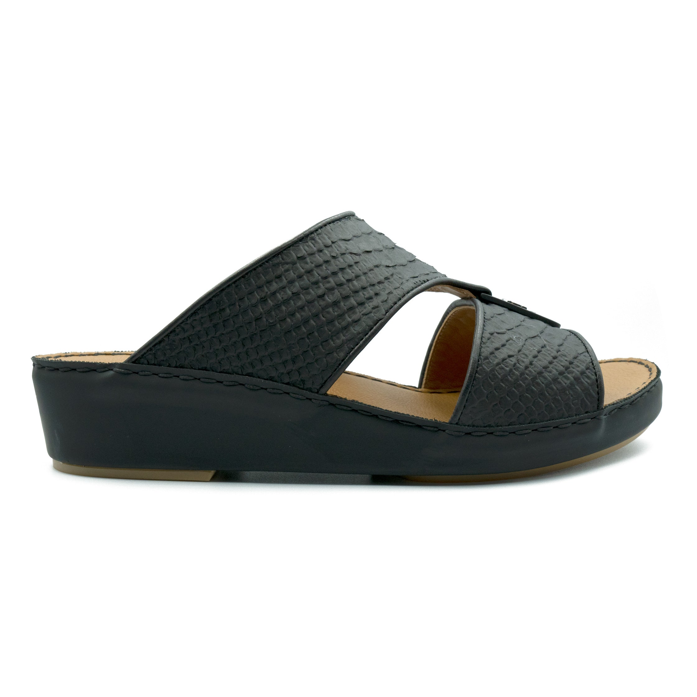 Black F Pitone (317-88) Arabic Sandals by F