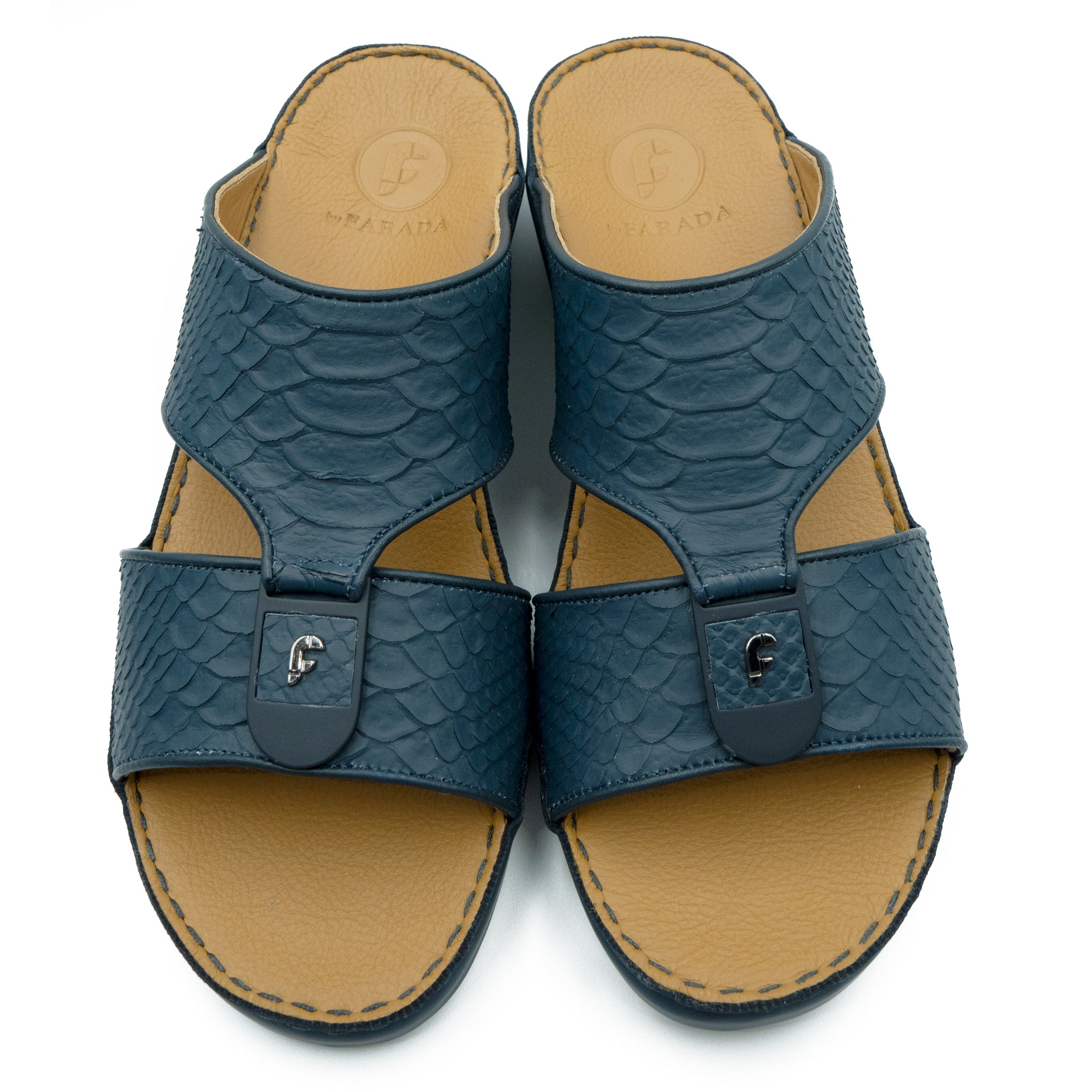 Navy F Pitone (317-88) Arabic Sandals by F