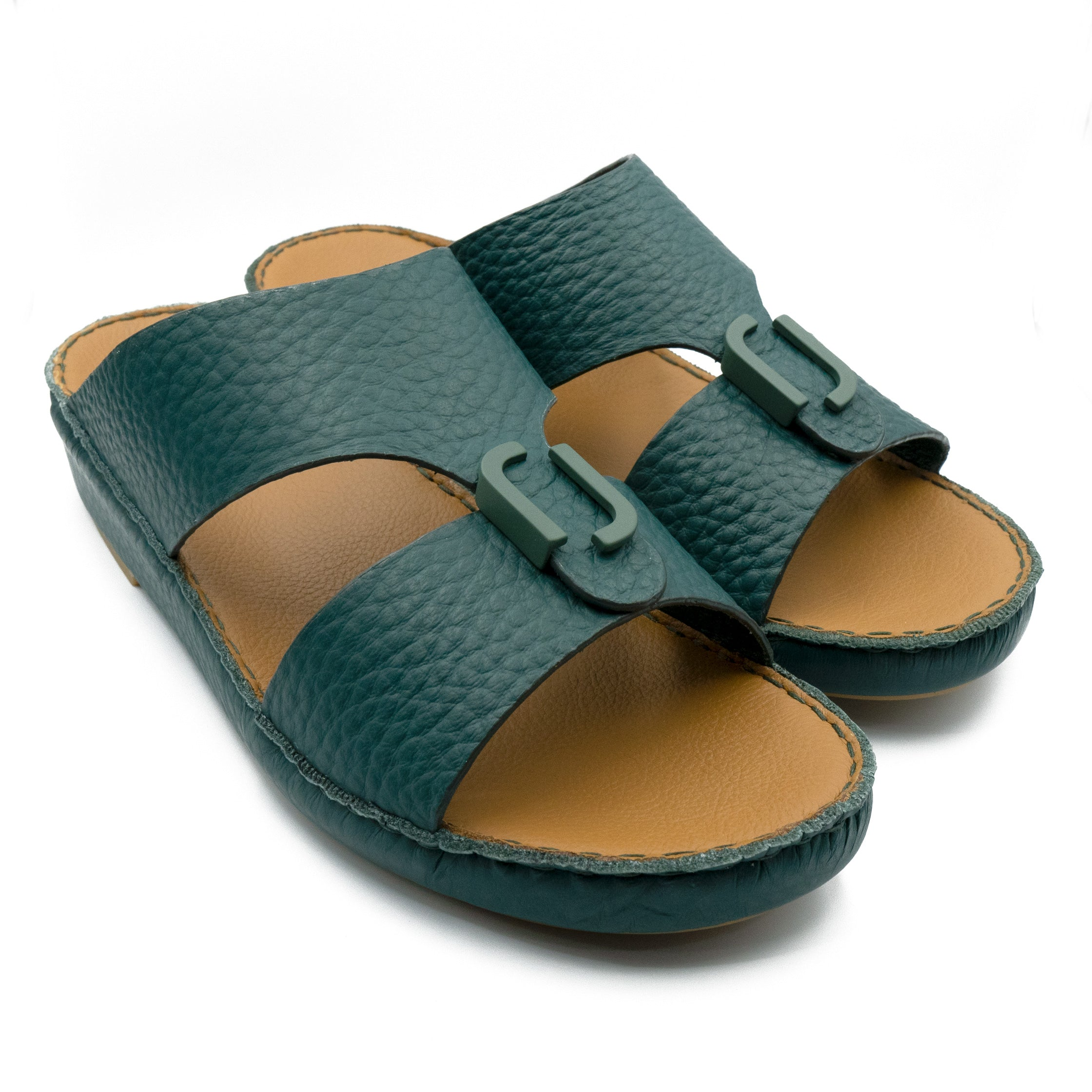 Green Unlined Hammered Milled (317-80) Arabic Sandal