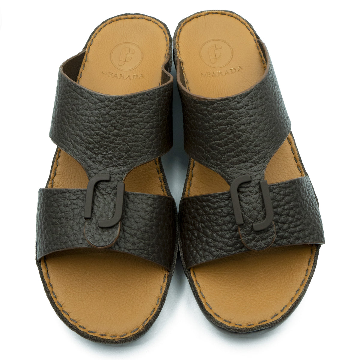 DAVINCI CAFE UNLINED HAMMERED CENTRE BUCKLE ARABIC SANDAL (317-80)