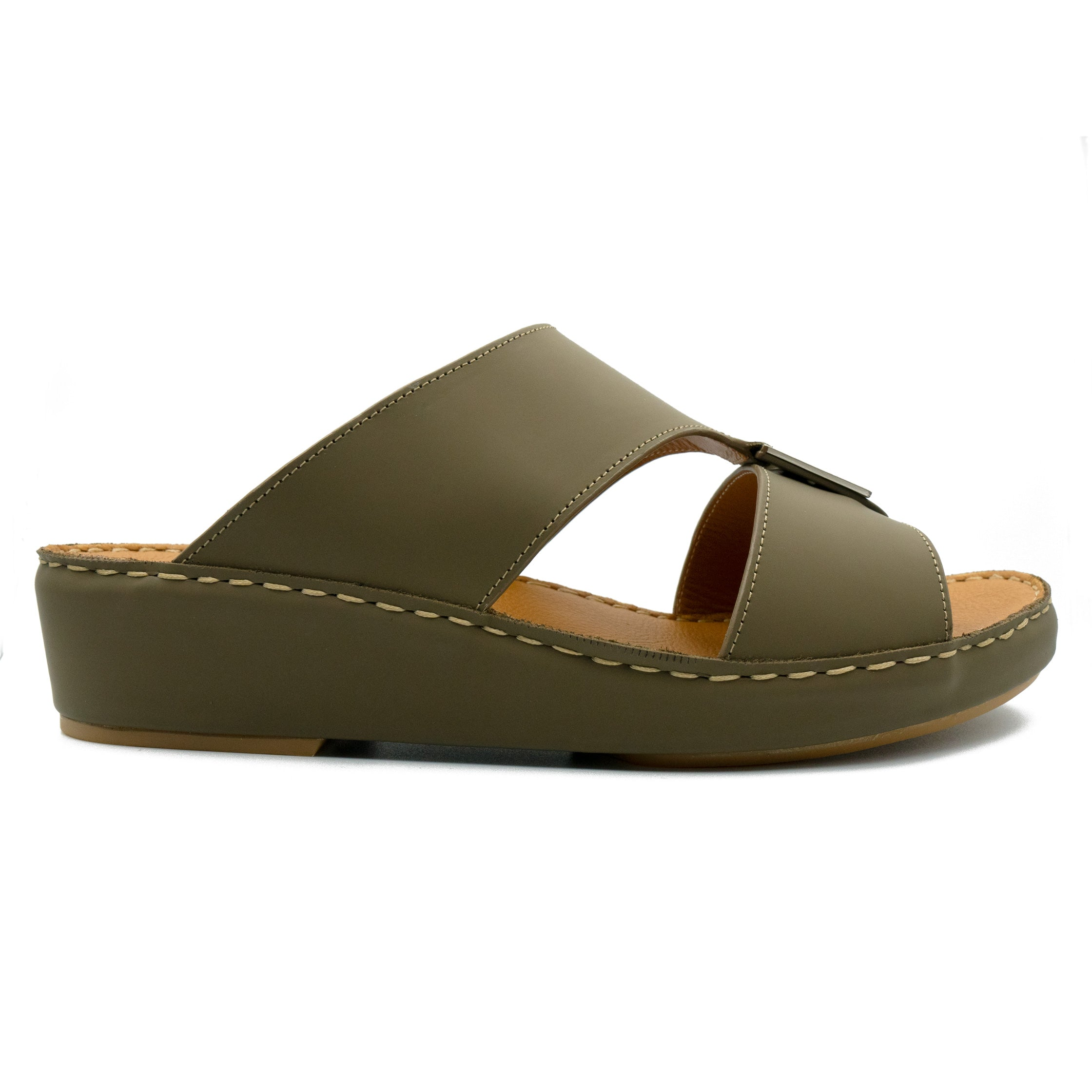 Dark Brown Rubber Matte (317-81) Arabic Sandal